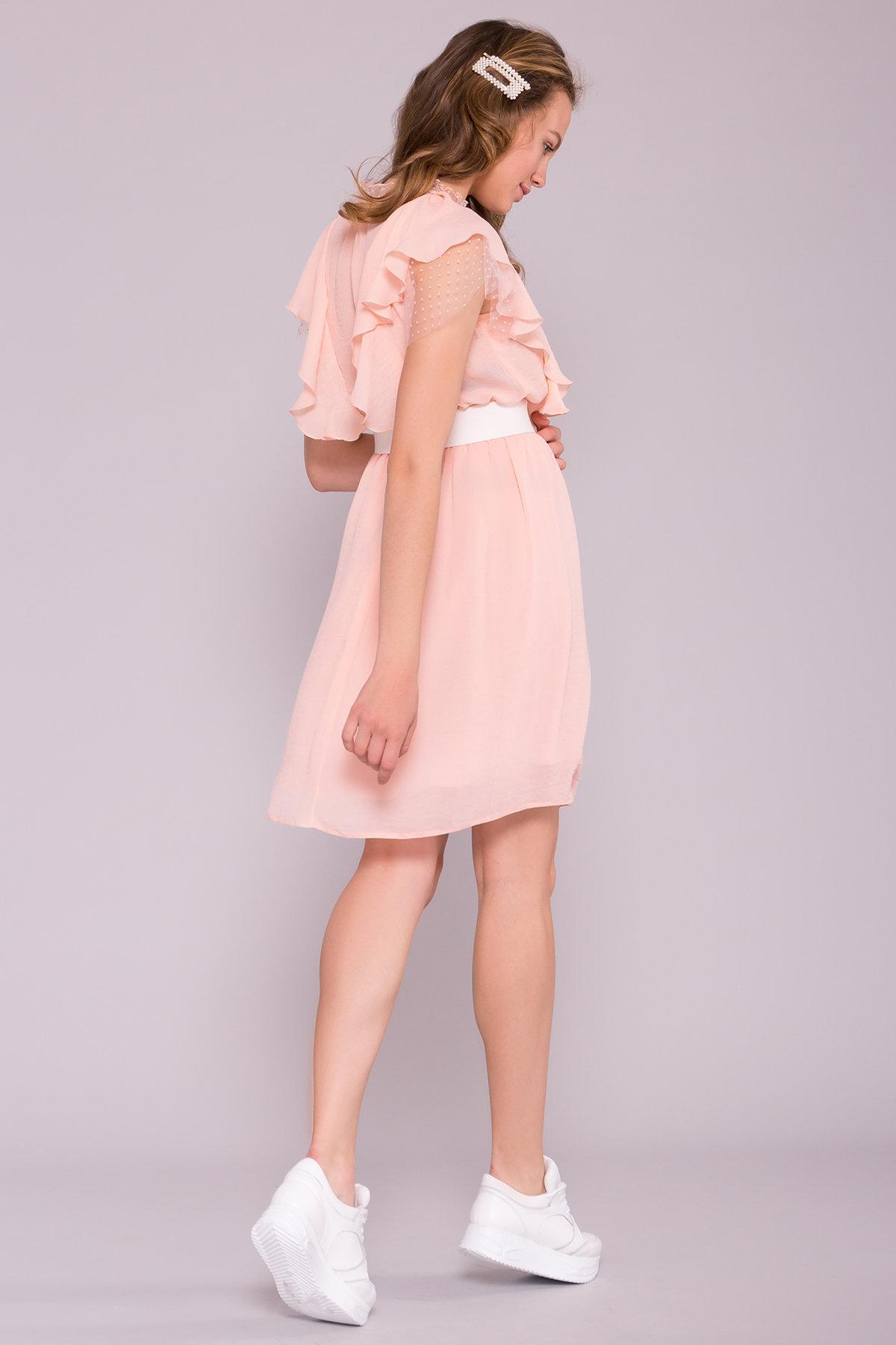 Платье Либре 7256 АРТ. 42819 Цвет: Персик 8 - фото 2, интернет магазин tm-modus.ru