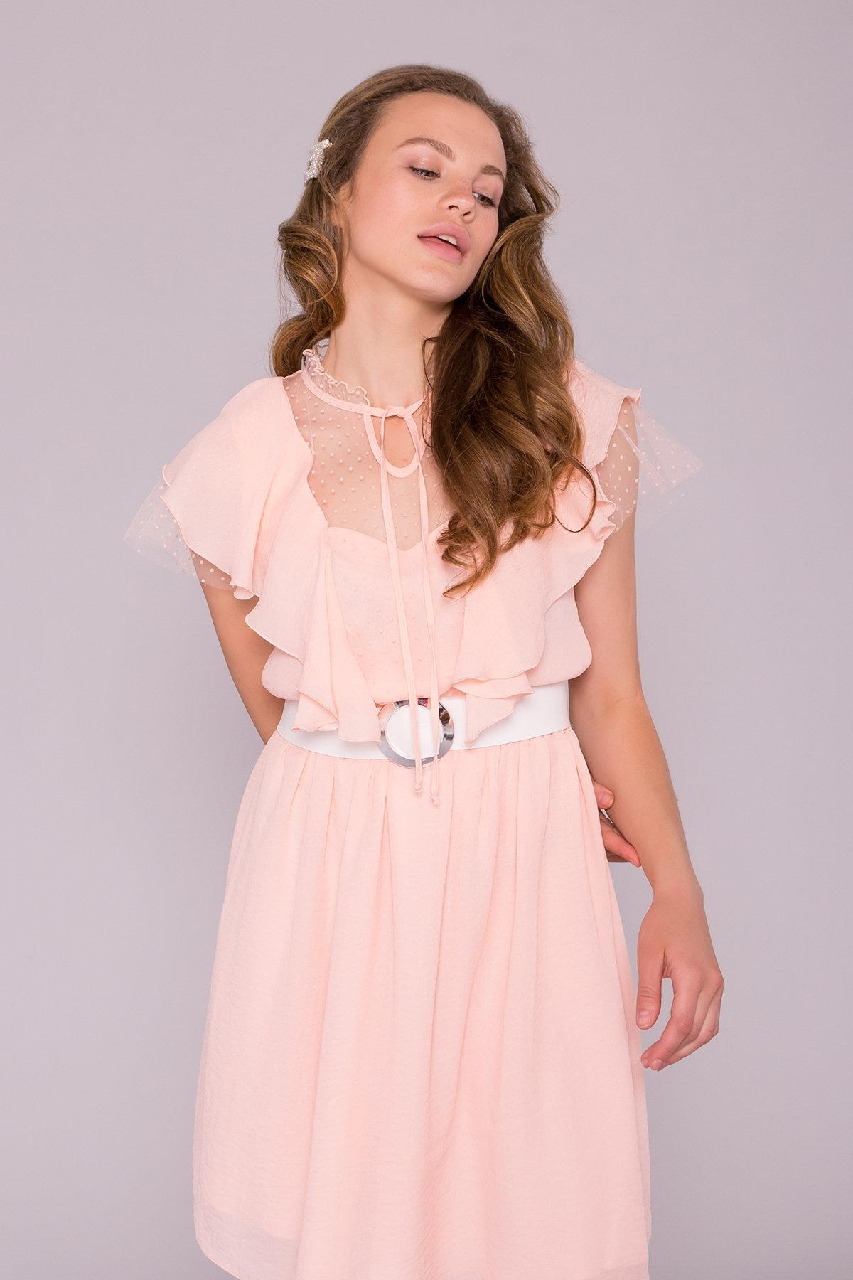 Платье Либре 7256 АРТ. 42819 Цвет: Персик 8 - фото 3, интернет магазин tm-modus.ru