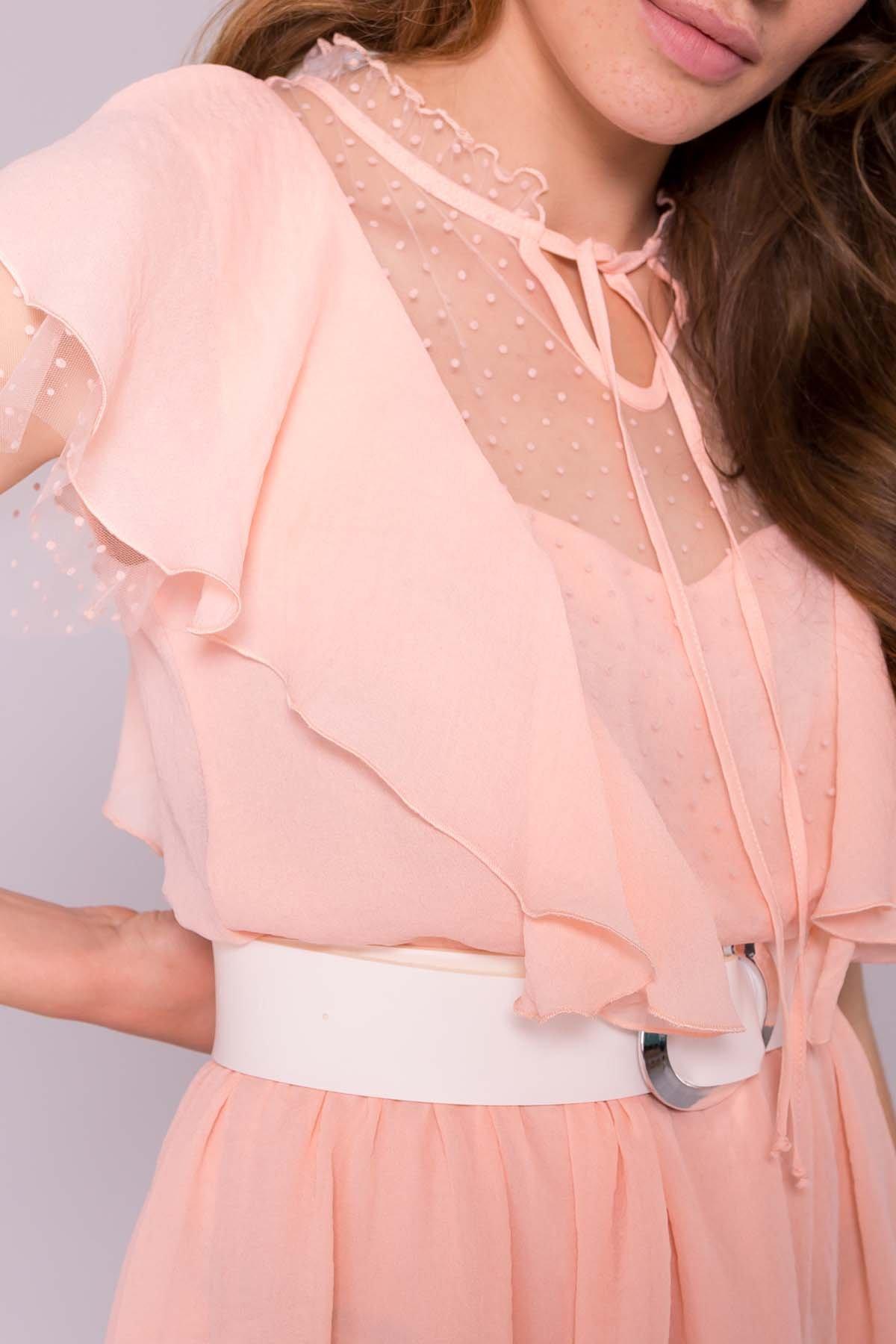 Платье Либре 7256 АРТ. 42819 Цвет: Персик 8 - фото 4, интернет магазин tm-modus.ru