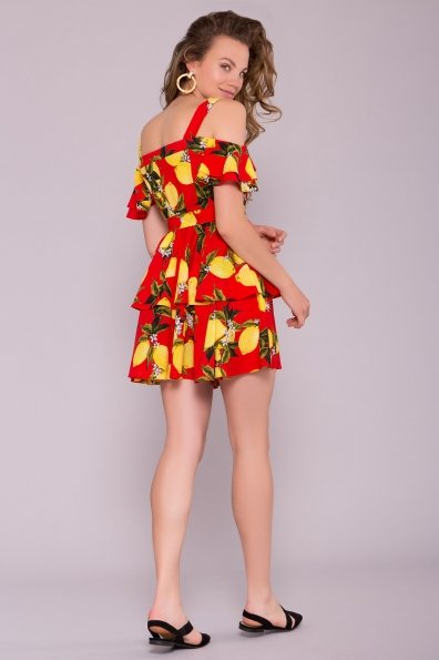 Платье Маори 7150 Цвет: Лимоны красный/желтый