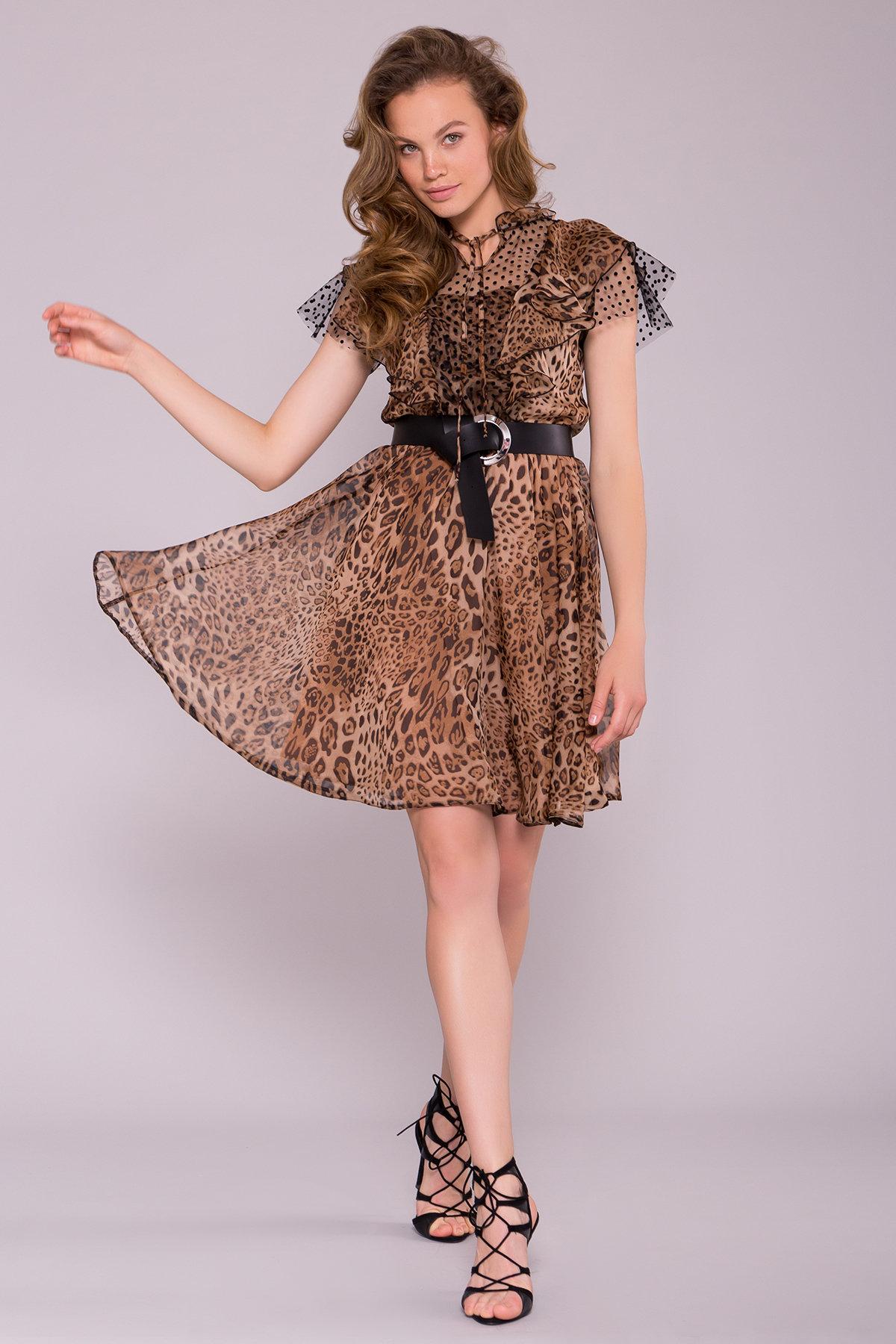 Платье Дали 7251 АРТ. 42805 Цвет: Леопард 1 - фото 1, интернет магазин tm-modus.ru