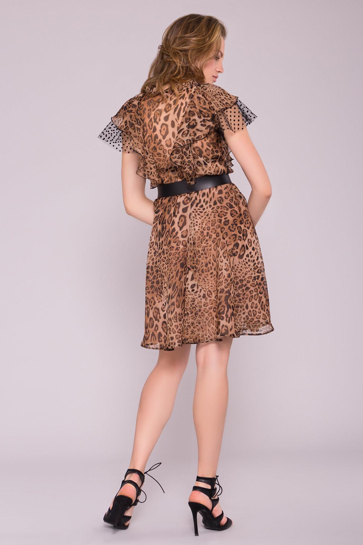 Платье Дали 7251 АРТ. 42805 Цвет: Леопард 1 - фото 3, интернет магазин tm-modus.ru