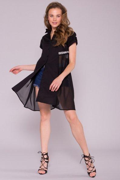 Платье-рубашка Саби  7268 Цвет: Черный