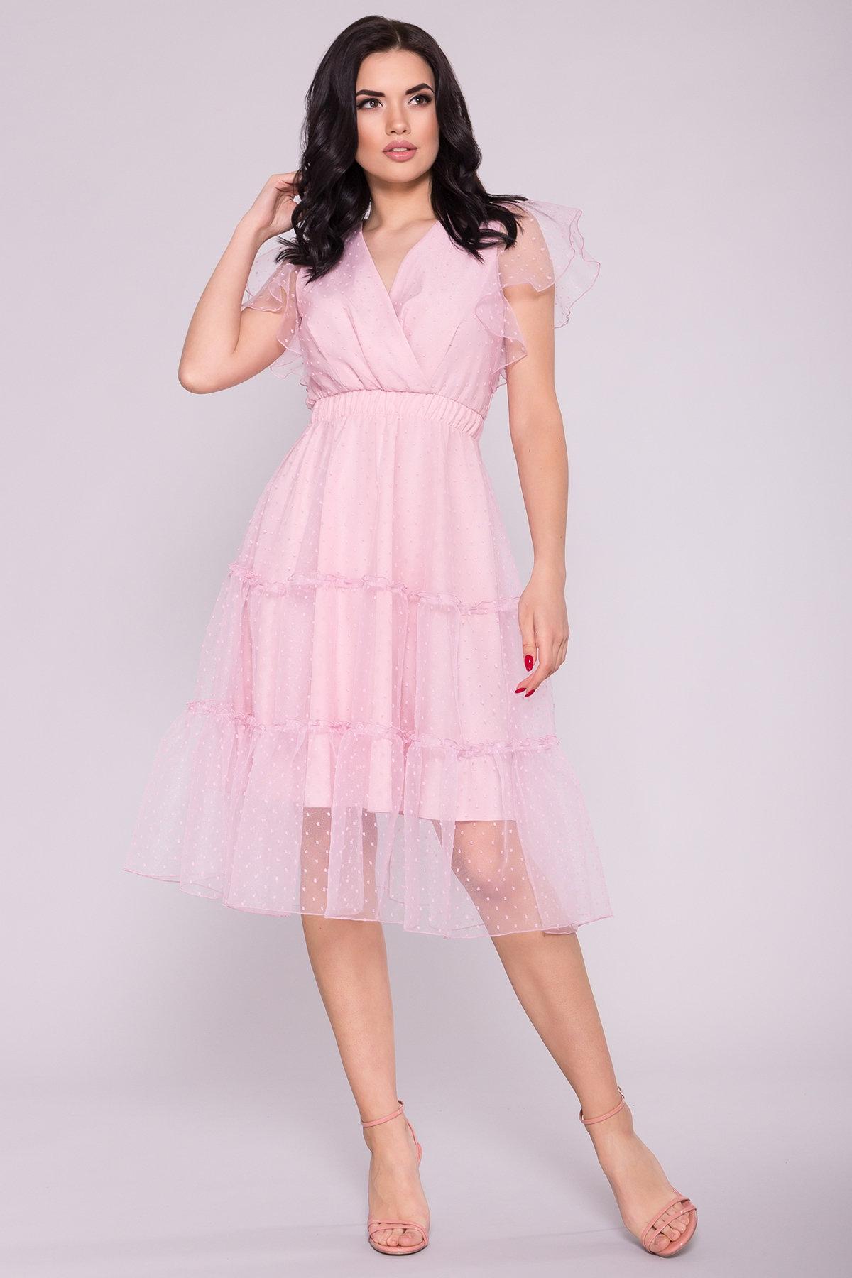 Платье Манана 7075 АРТ. 42448 Цвет: Розовый Светлый 13 - фото 2, интернет магазин tm-modus.ru