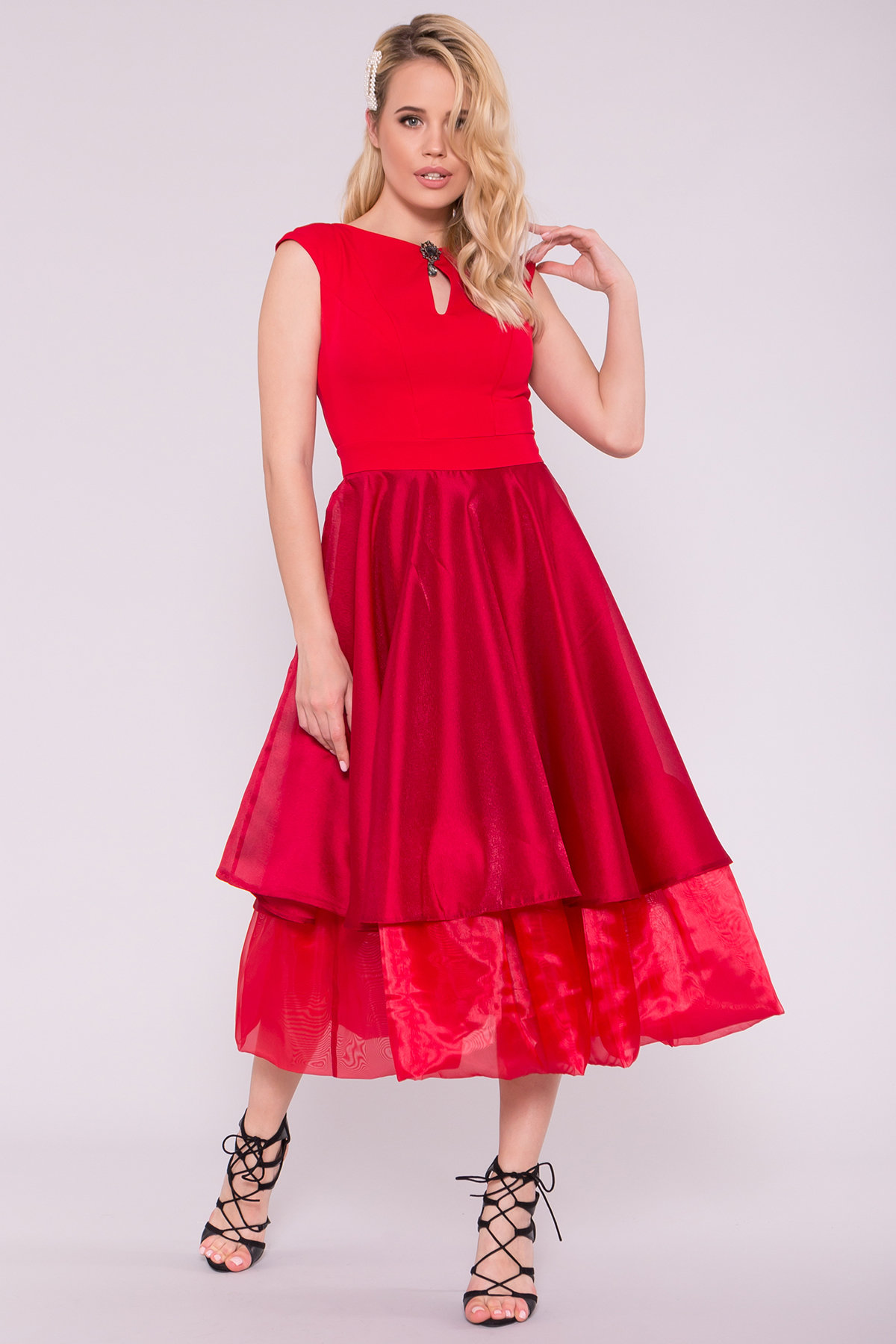 Вечернее Платье Лилу 7135 АРТ. 42528 Цвет: красный/марсал - фото 3, интернет магазин tm-modus.ru