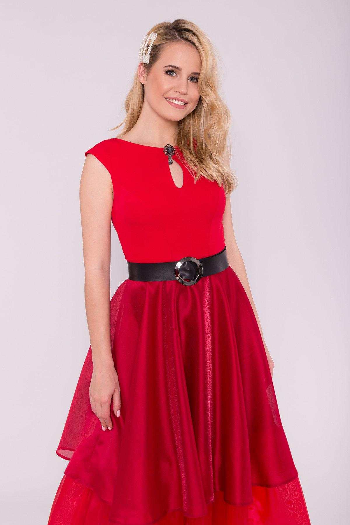 Вечернее Платье Лилу 7135 АРТ. 42528 Цвет: красный/марсал - фото 4, интернет магазин tm-modus.ru