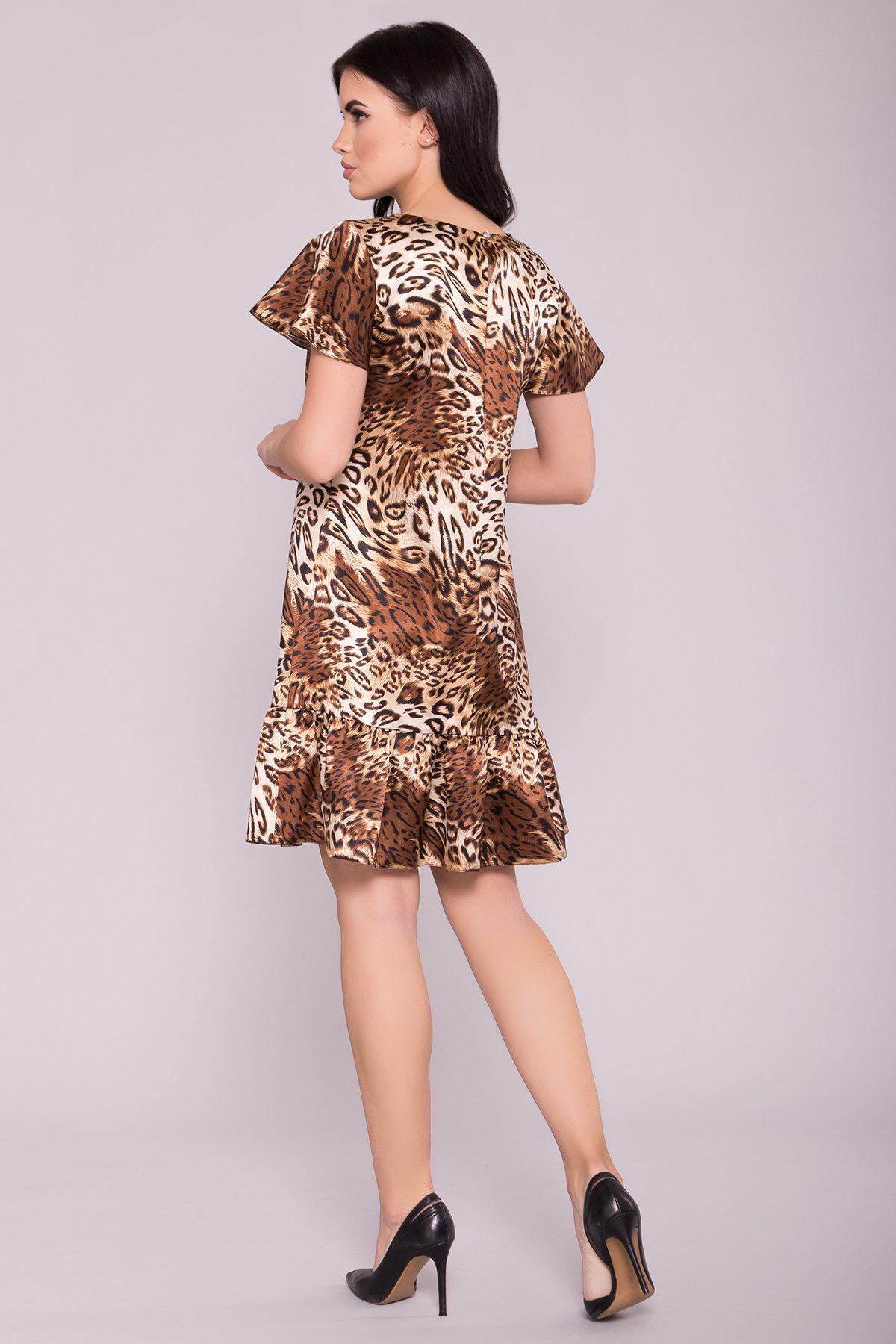 Платье Патрисия 6986 АРТ. 42520 Цвет: Леопард бежевый/черный - фото 2, интернет магазин tm-modus.ru