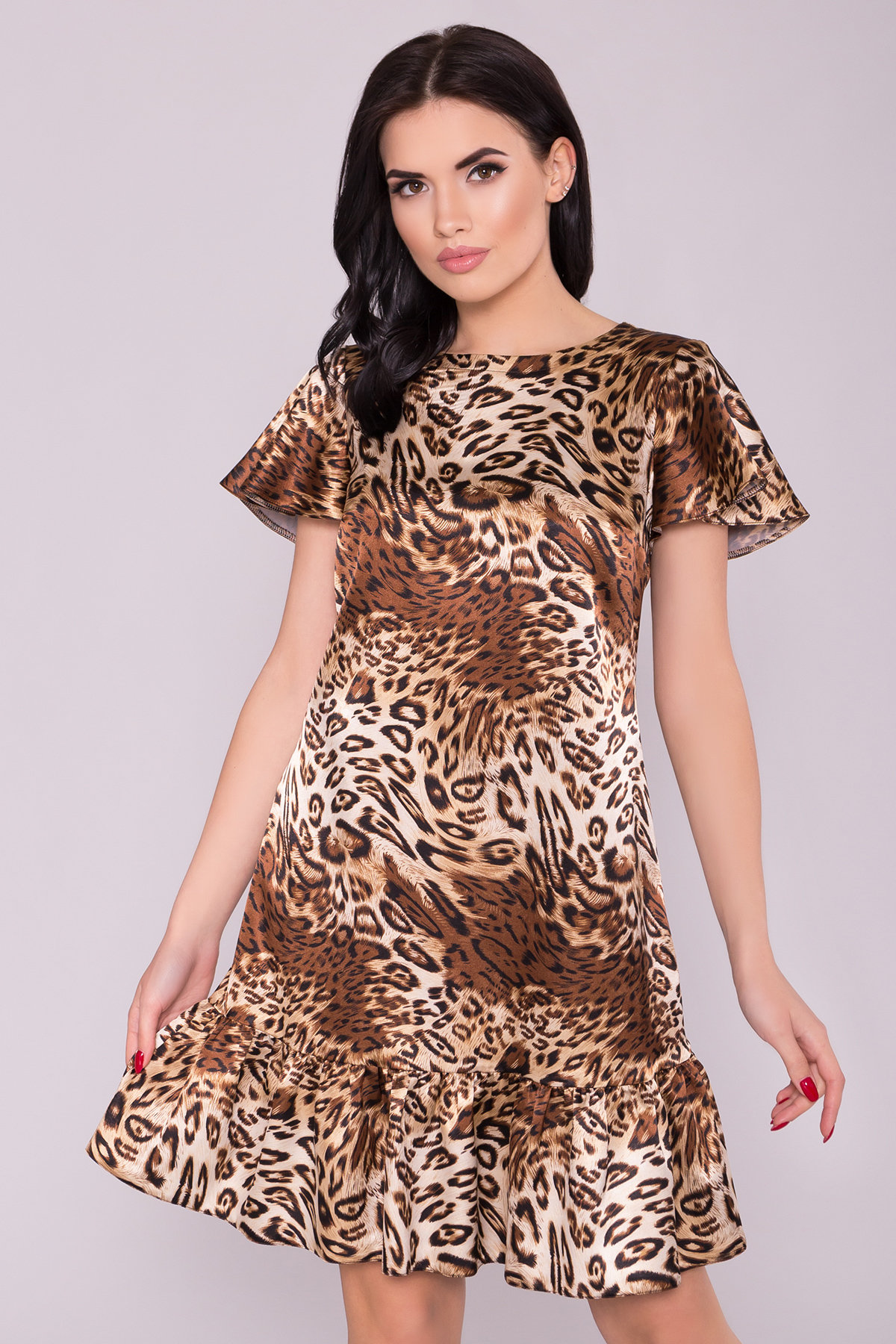 Платье Патрисия 6986 АРТ. 42520 Цвет: Леопард бежевый/черный - фото 3, интернет магазин tm-modus.ru