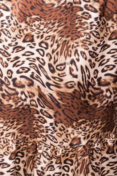 Платье Патрисия 6986 Цвет: Леопард бежевый/черный