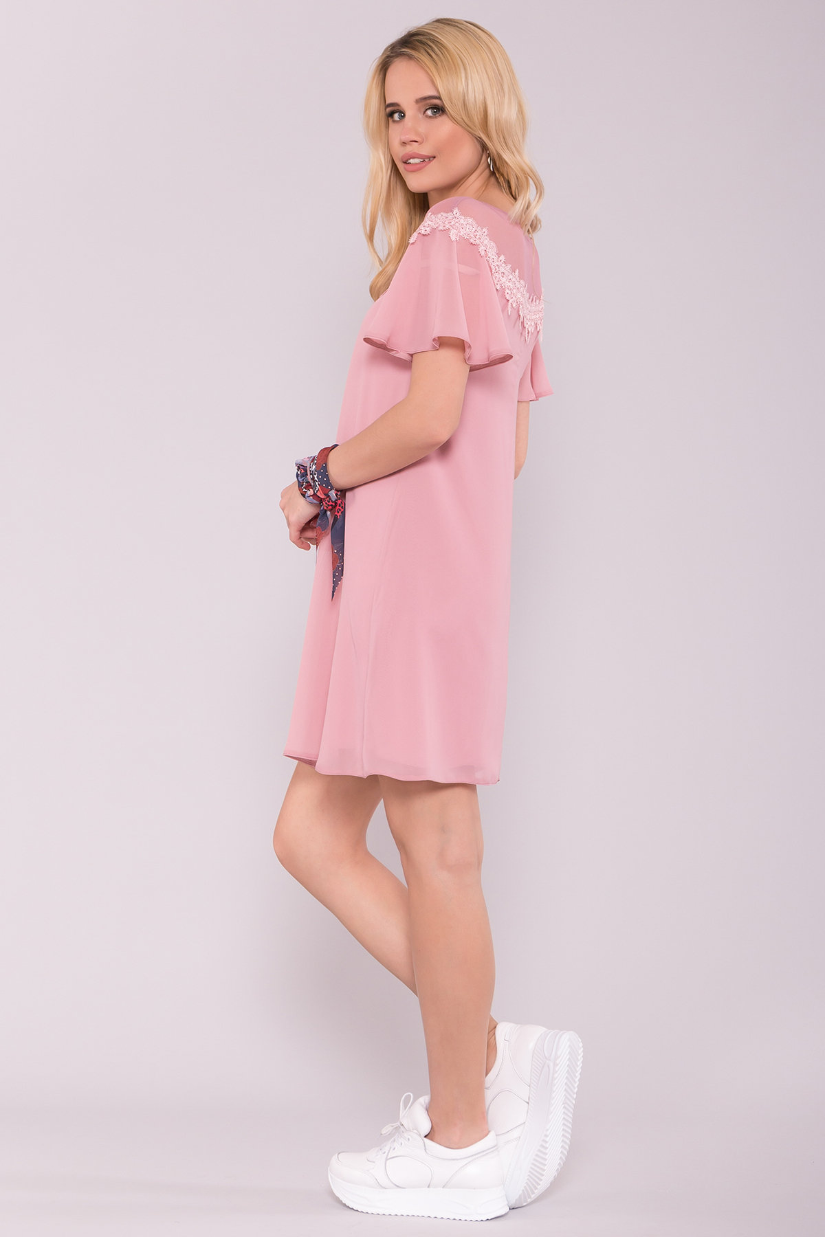 Платье Эри 7255 АРТ. 42807 Цвет: Пудра Темная - фото 2, интернет магазин tm-modus.ru