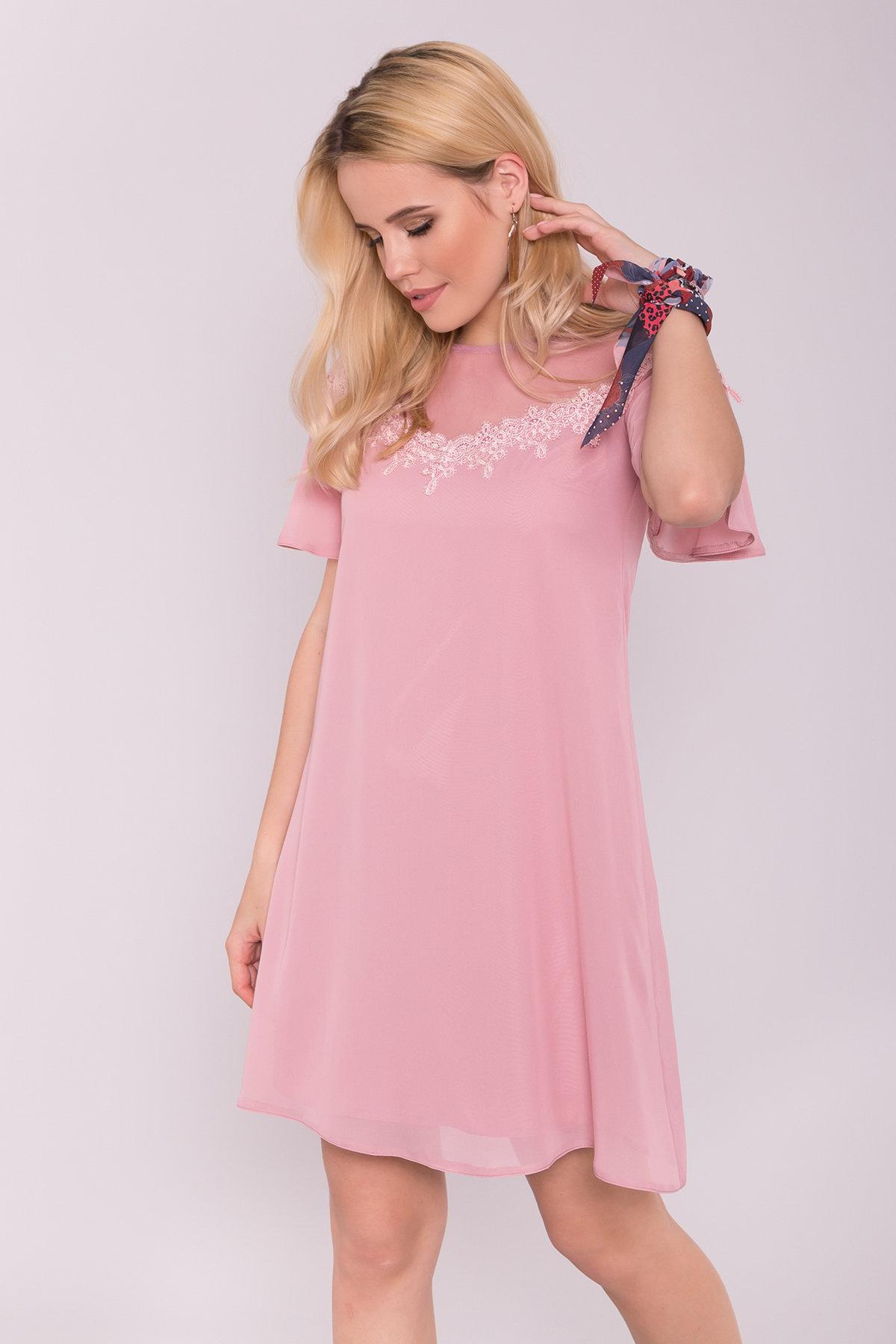 Платье Эри 7255 Цвет: Пудра Темная