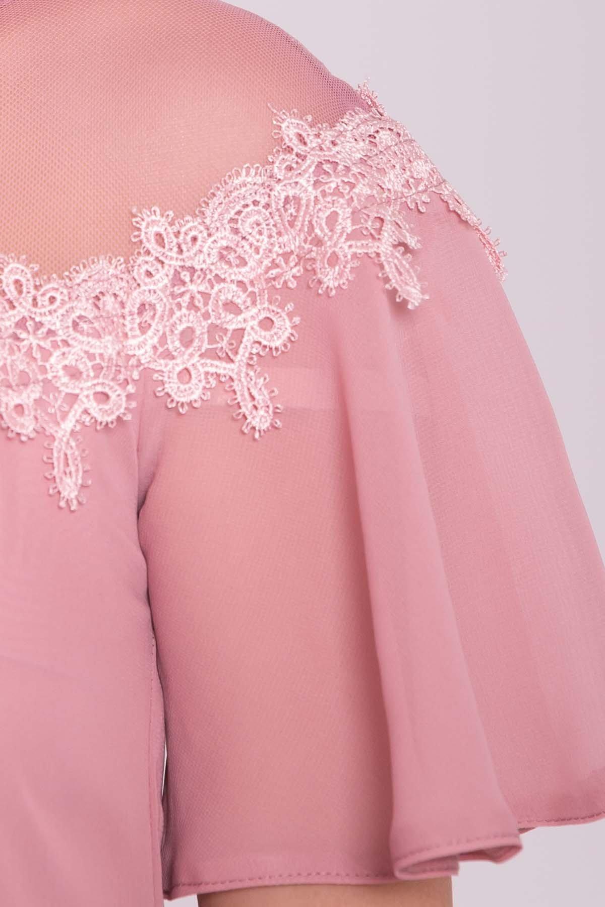Платье Эри 7255 АРТ. 42807 Цвет: Пудра Темная - фото 4, интернет магазин tm-modus.ru