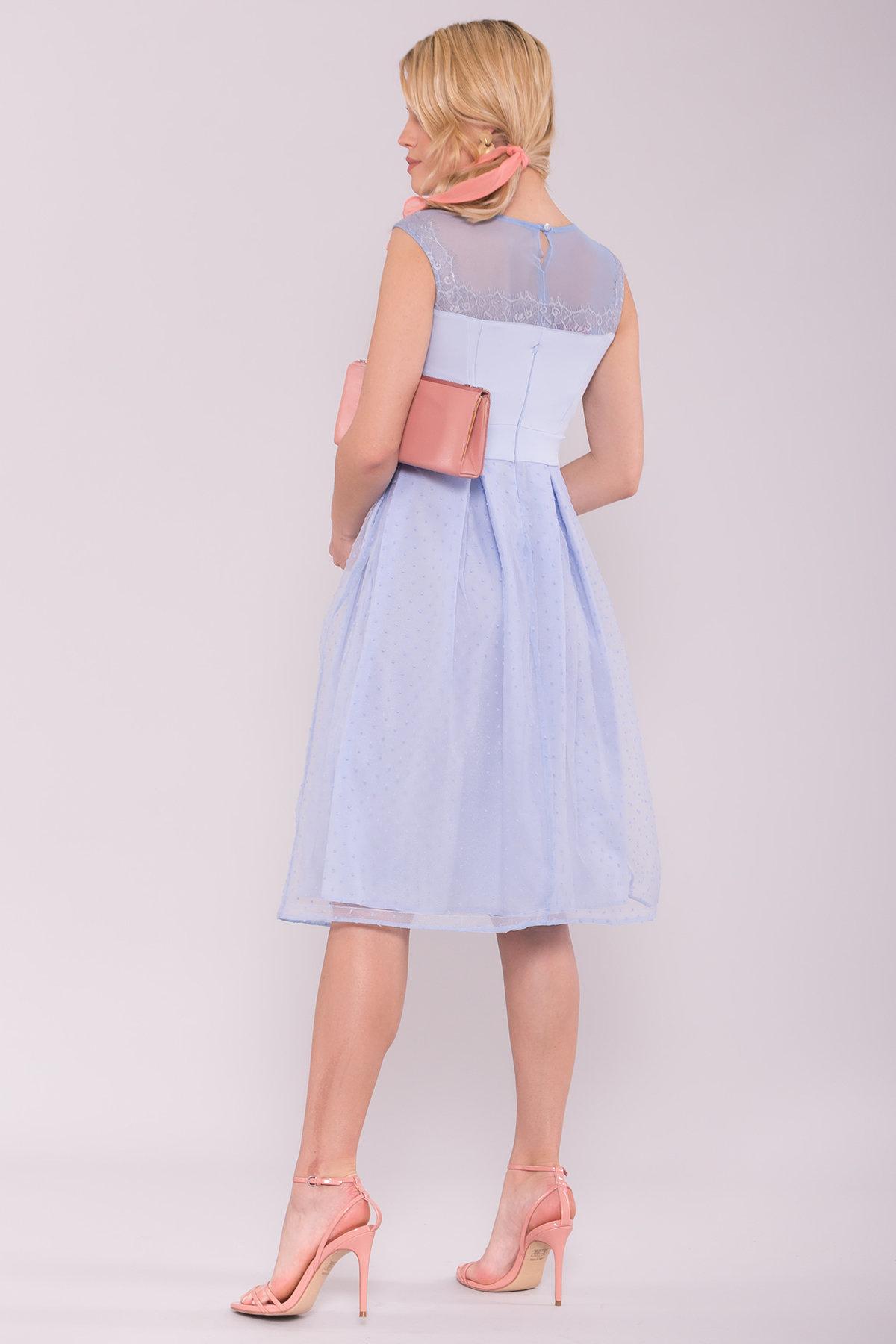 Платье Зарина 6989 АРТ. 42521 Цвет: Голубой 79 - фото 2, интернет магазин tm-modus.ru