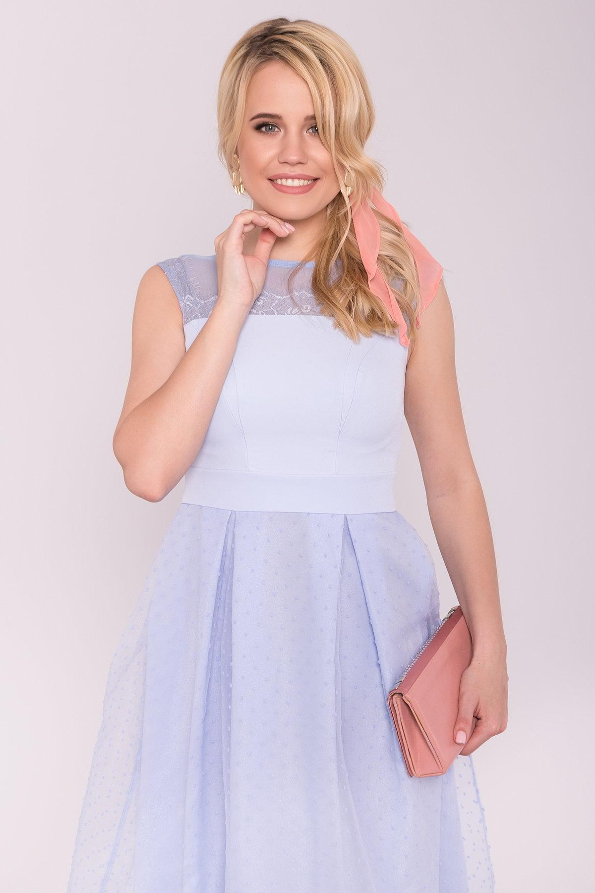 Платье Зарина 6989 АРТ. 42521 Цвет: Голубой 79 - фото 3, интернет магазин tm-modus.ru