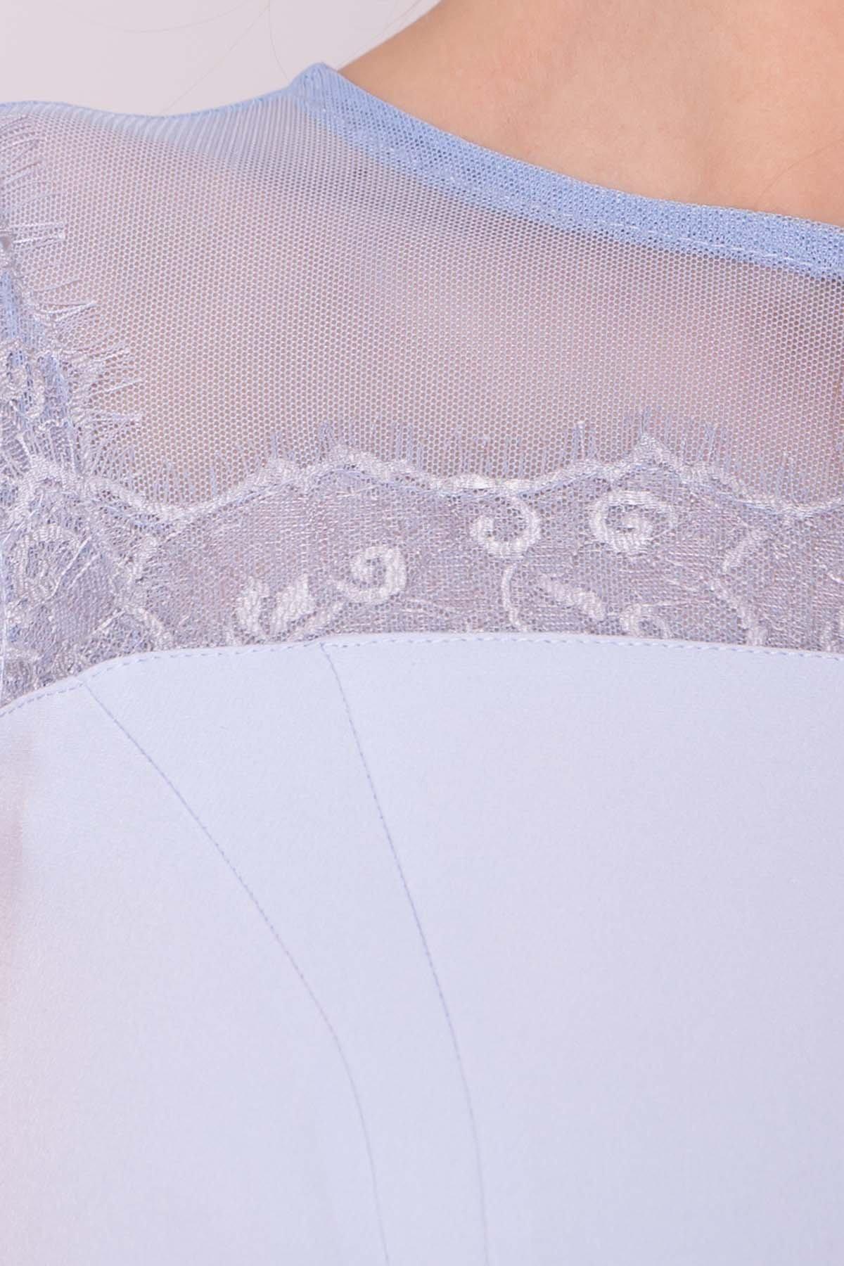 Платье Зарина 6989 АРТ. 42521 Цвет: Голубой 79 - фото 4, интернет магазин tm-modus.ru