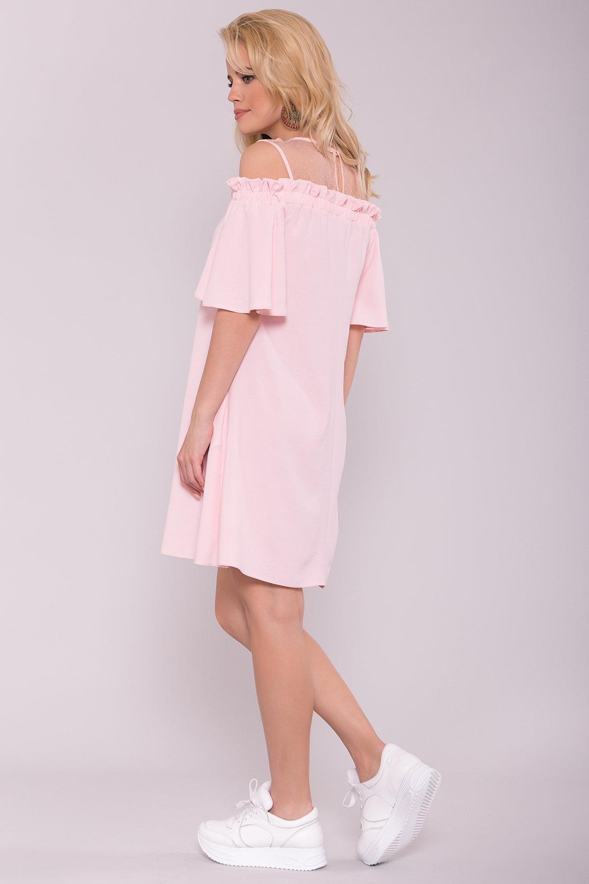 Платье Молена 7138 АРТ. 42779 Цвет: Розовый 16 - фото 2, интернет магазин tm-modus.ru