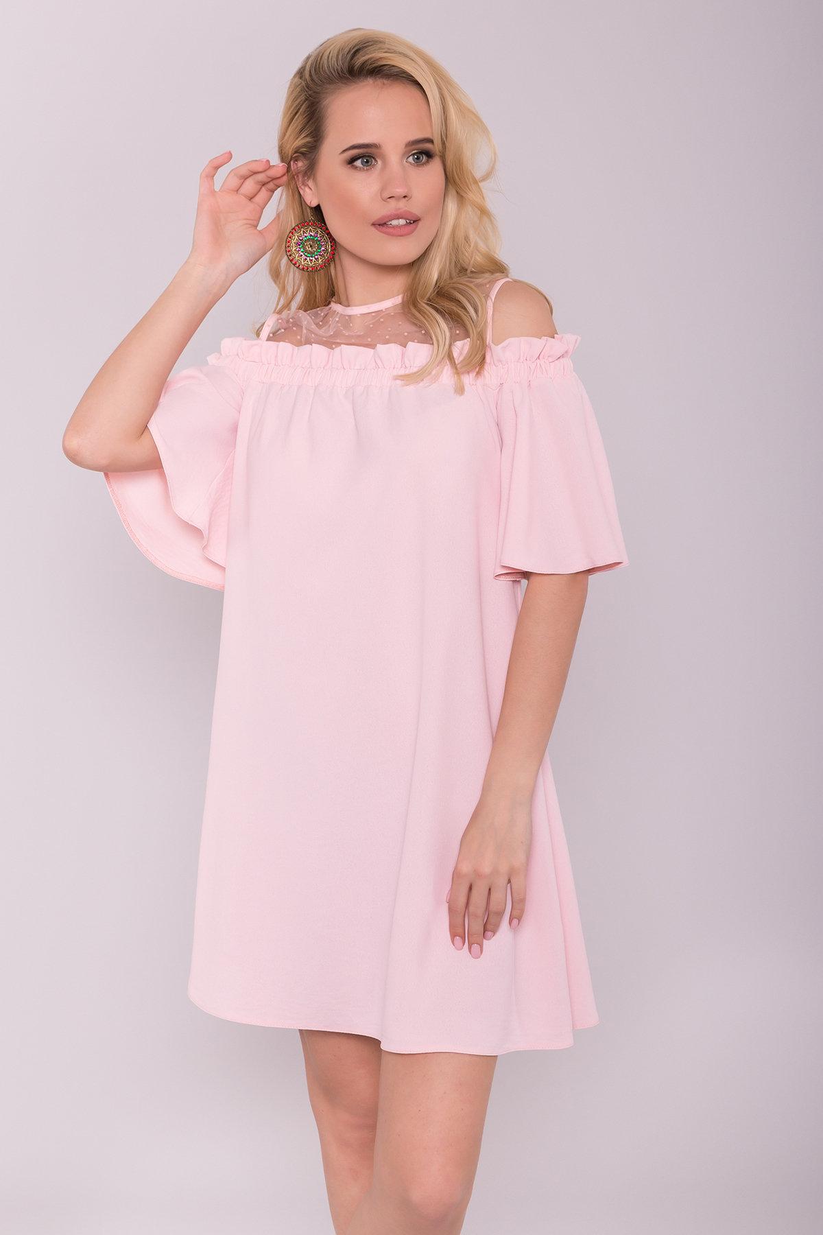 Платье Молена 7138 АРТ. 42779 Цвет: Розовый 16 - фото 3, интернет магазин tm-modus.ru