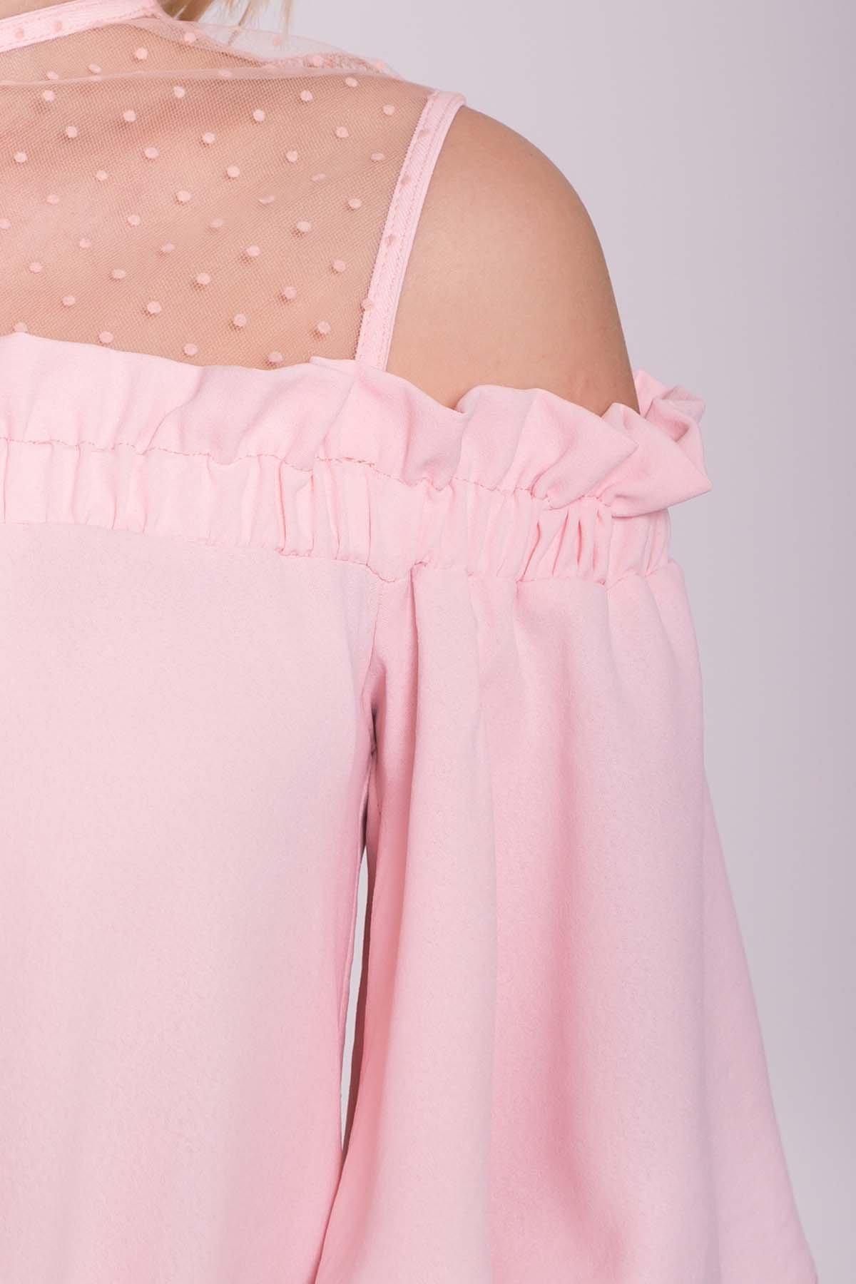 Платье Молена 7138 АРТ. 42779 Цвет: Розовый 16 - фото 4, интернет магазин tm-modus.ru