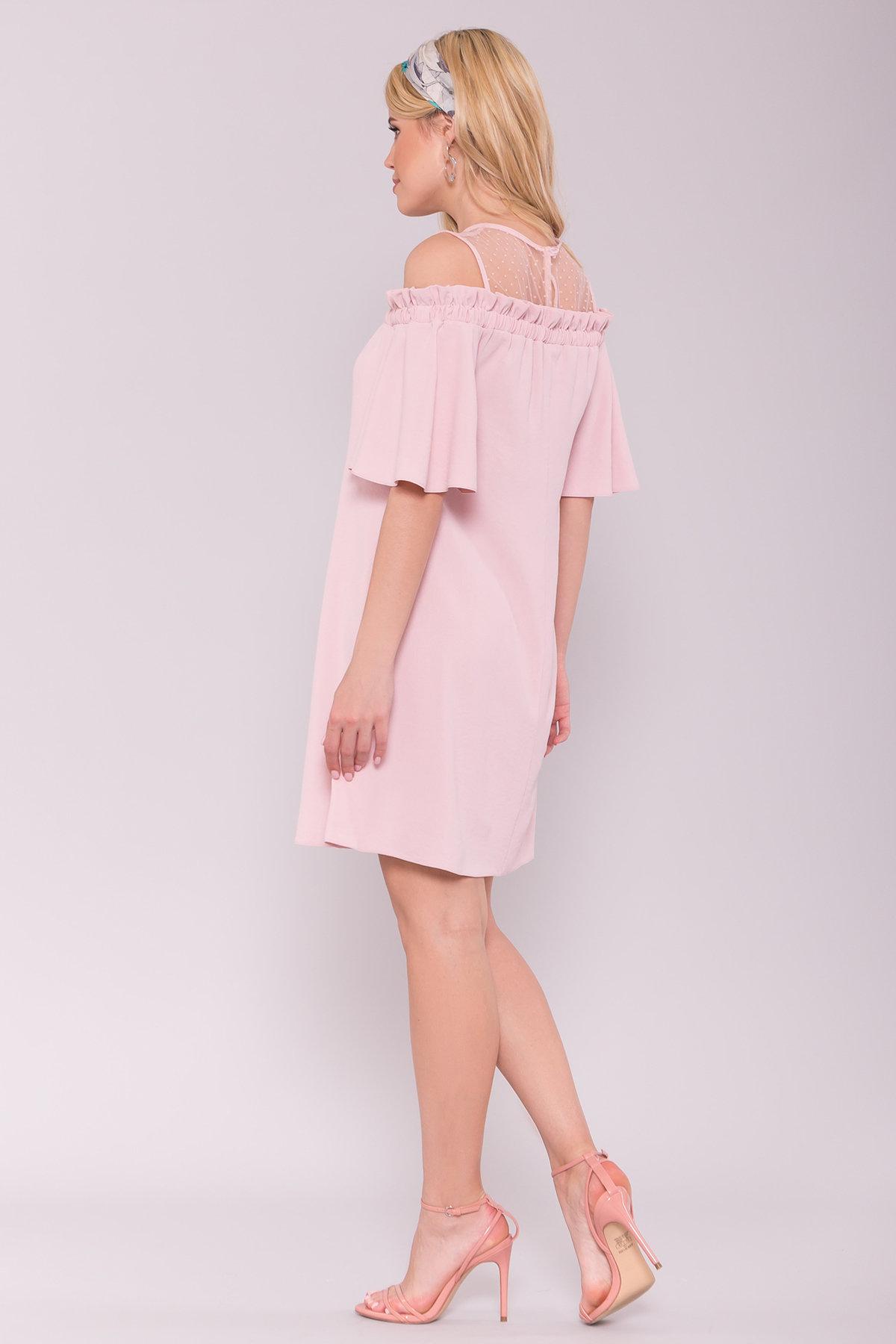 Платье Молена 7138 АРТ. 42780 Цвет: Пудра 3 - фото 2, интернет магазин tm-modus.ru