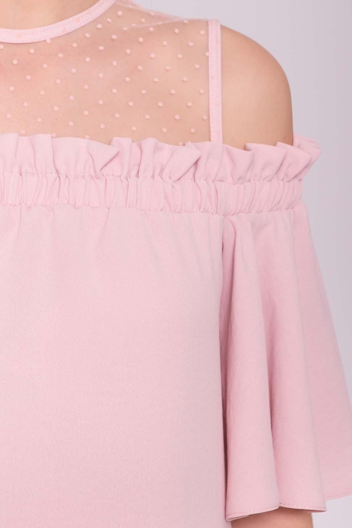 Платье Молена 7138 АРТ. 42780 Цвет: Пудра 3 - фото 4, интернет магазин tm-modus.ru