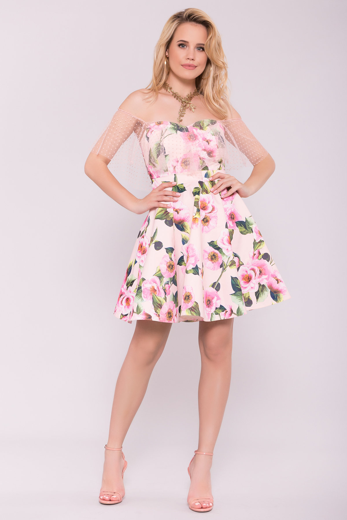 Платья от производителя Тори платье из коттона с принтом 7189