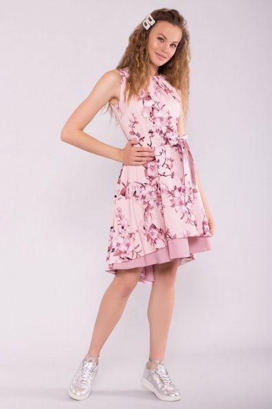 Платье Нимфа 7249 Цвет: Цветы на ветке пудра тем