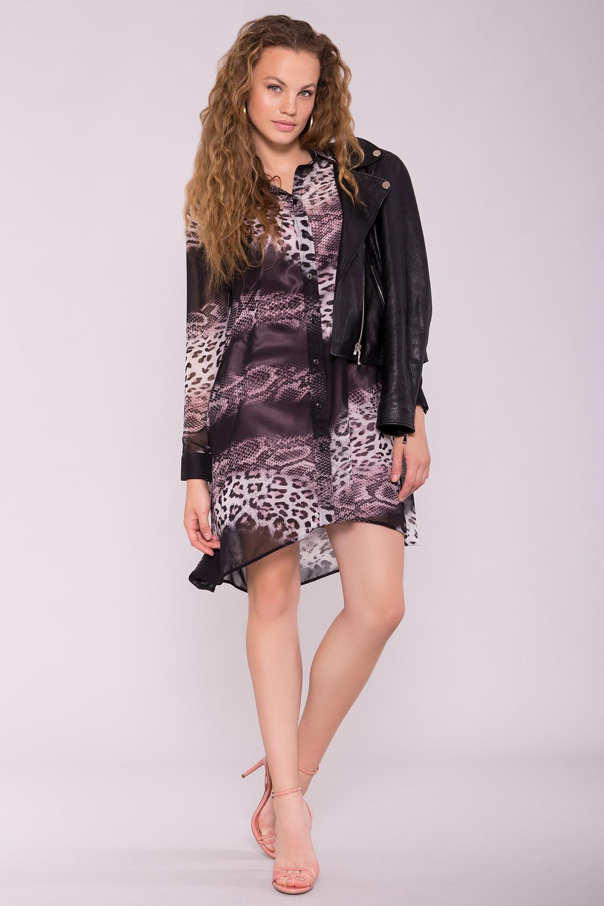 модное платье на весну Платье-рубашка Сохо 6783