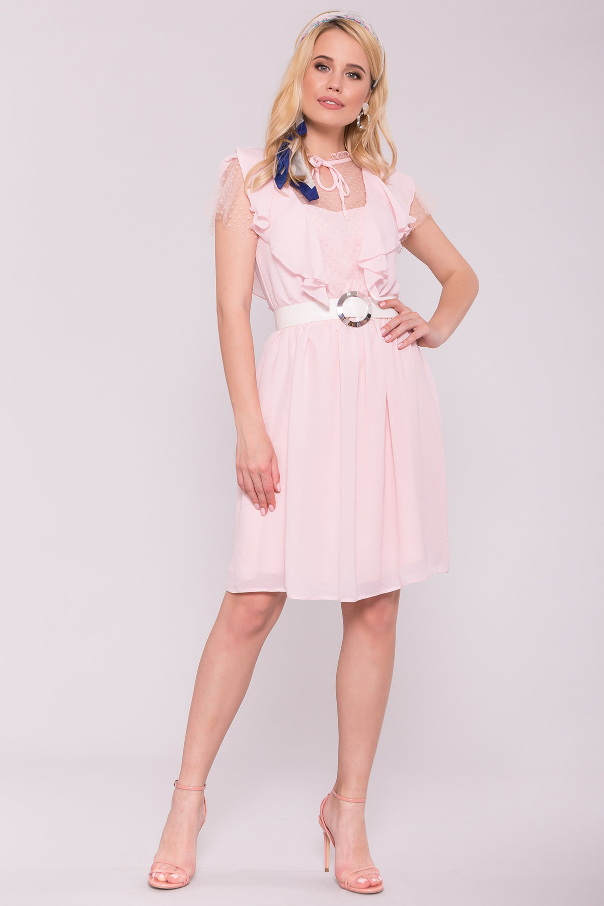 Платье Либре 7256 АРТ. 42820 Цвет: Розовый светлый 7 - фото 2, интернет магазин tm-modus.ru