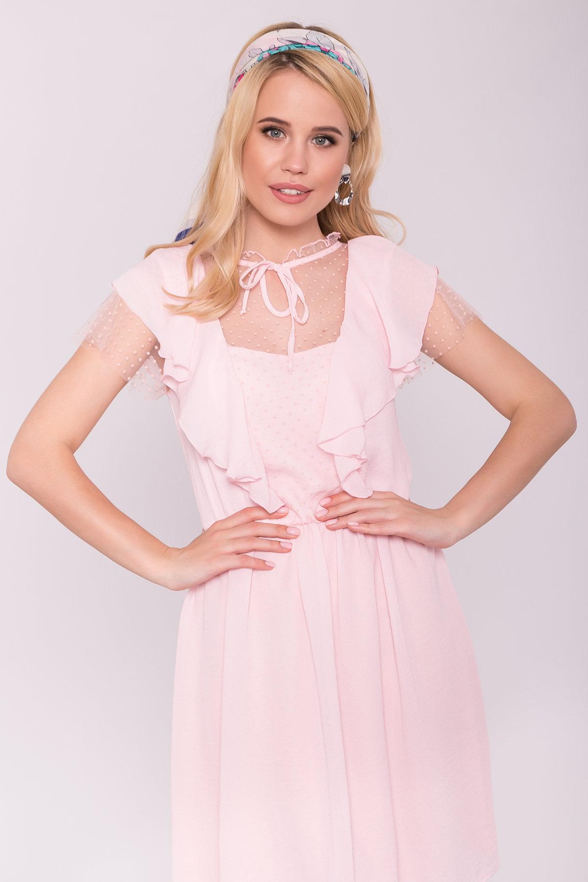 Платье Либре 7256 АРТ. 42820 Цвет: Розовый светлый 7 - фото 4, интернет магазин tm-modus.ru