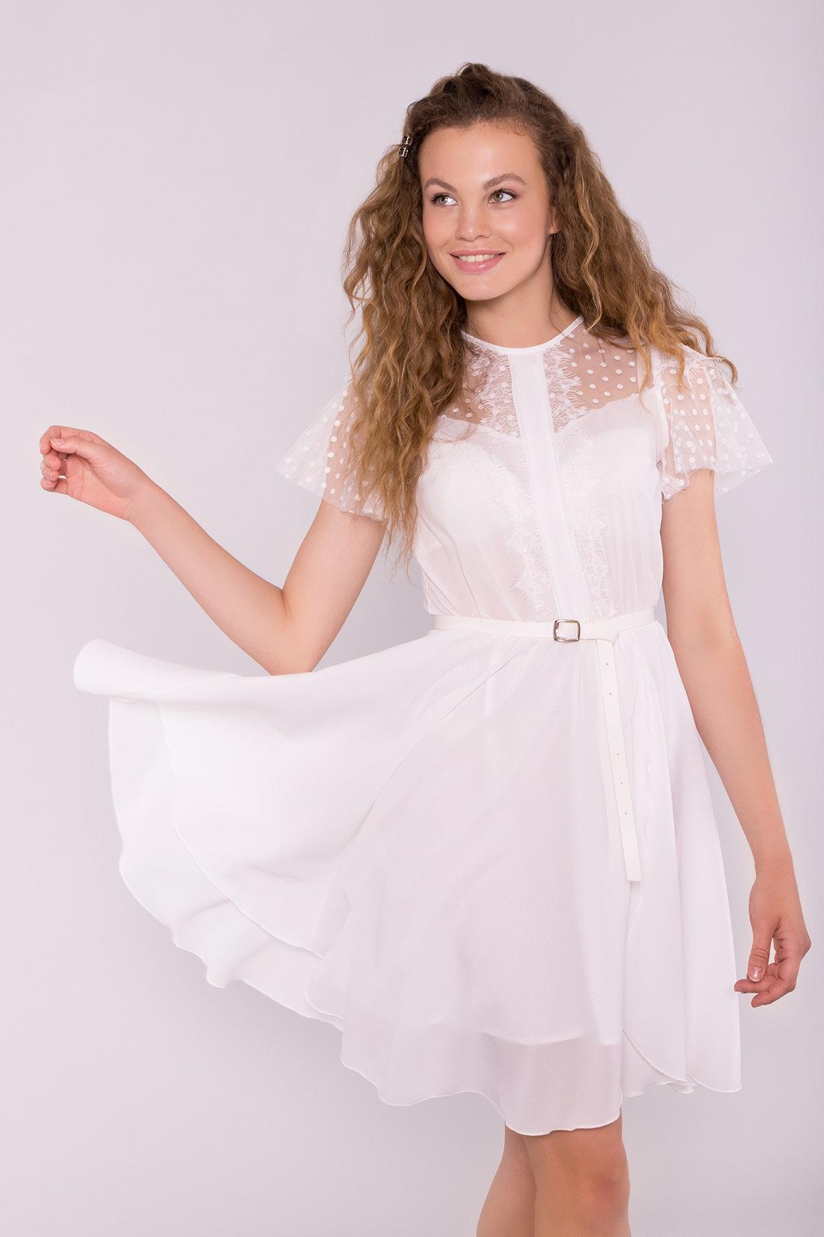 Платье Ламара 7143 АРТ. 42783 Цвет: Молоко 2 - фото 2, интернет магазин tm-modus.ru