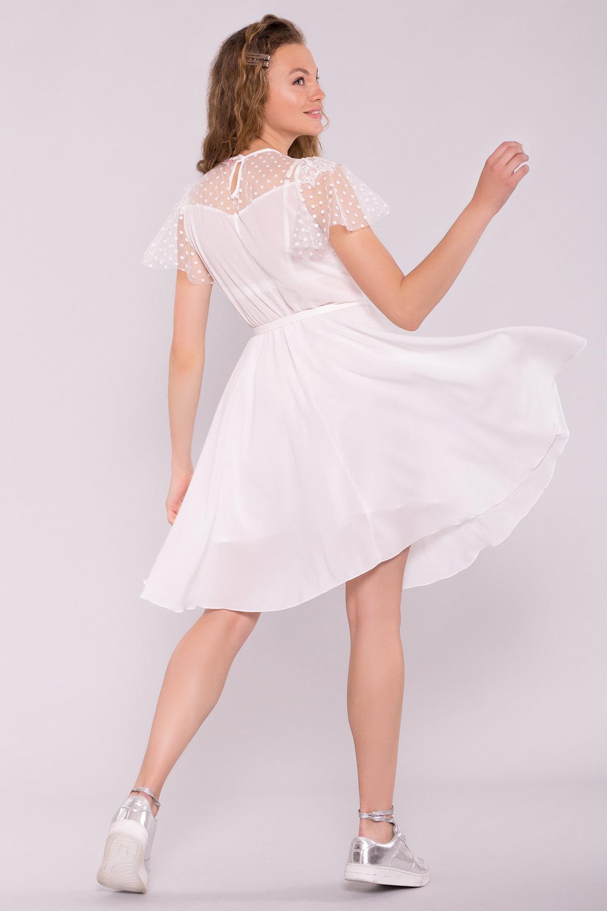 Платье Ламара 7143 АРТ. 42783 Цвет: Молоко 2 - фото 3, интернет магазин tm-modus.ru