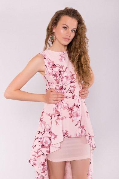 Платье Афродита 7245 Цвет: Цветы на ветке пудра тем