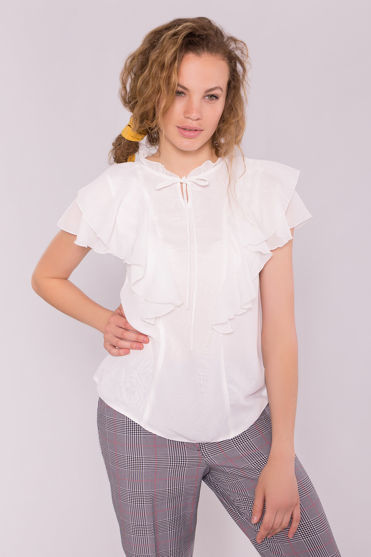 Блуза Дайан 7235 АРТ. 42830 Цвет: Молоко - фото 3, интернет магазин tm-modus.ru