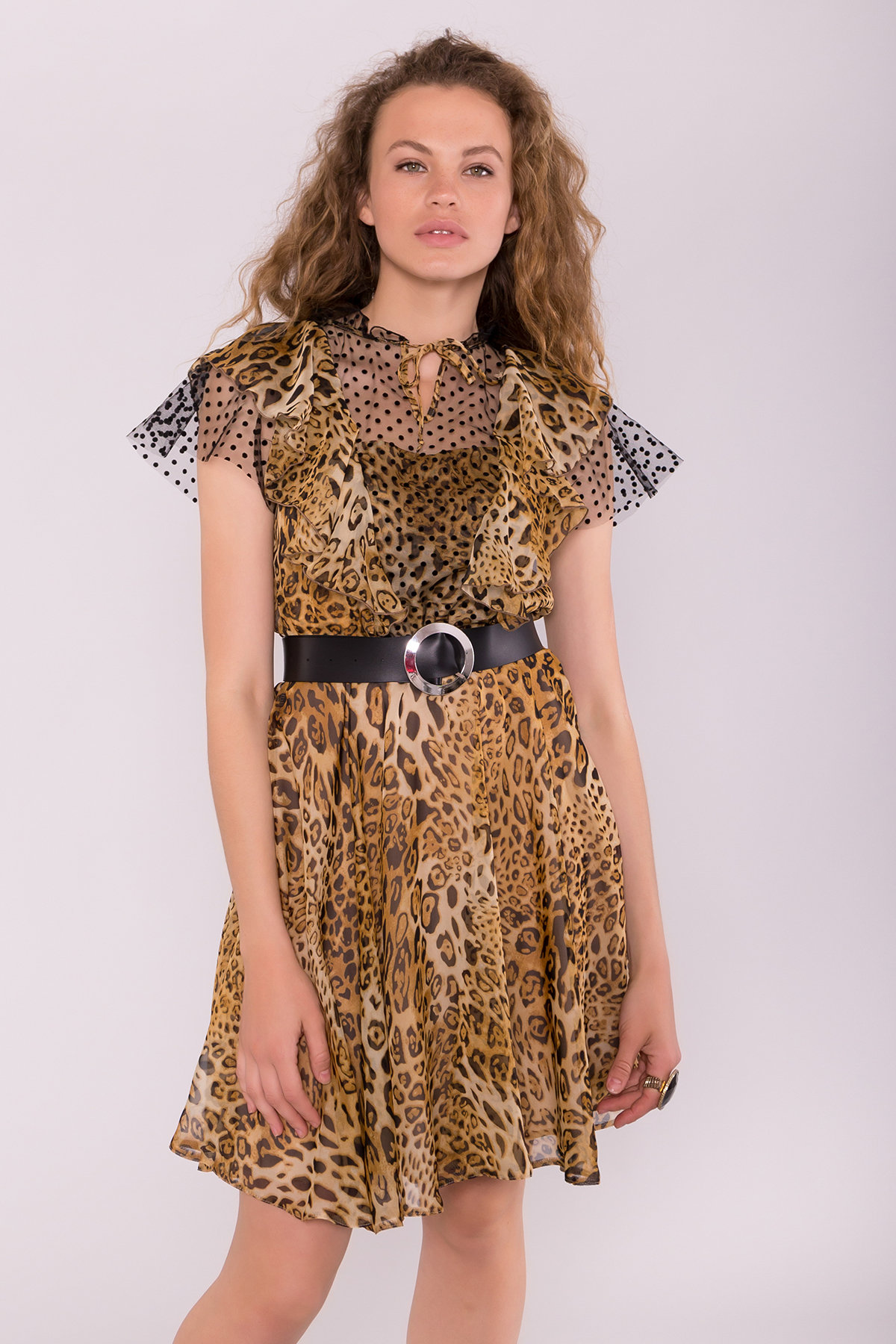 Платье Дали 7251 АРТ. 42806 Цвет: Леопард 2 - фото 3, интернет магазин tm-modus.ru