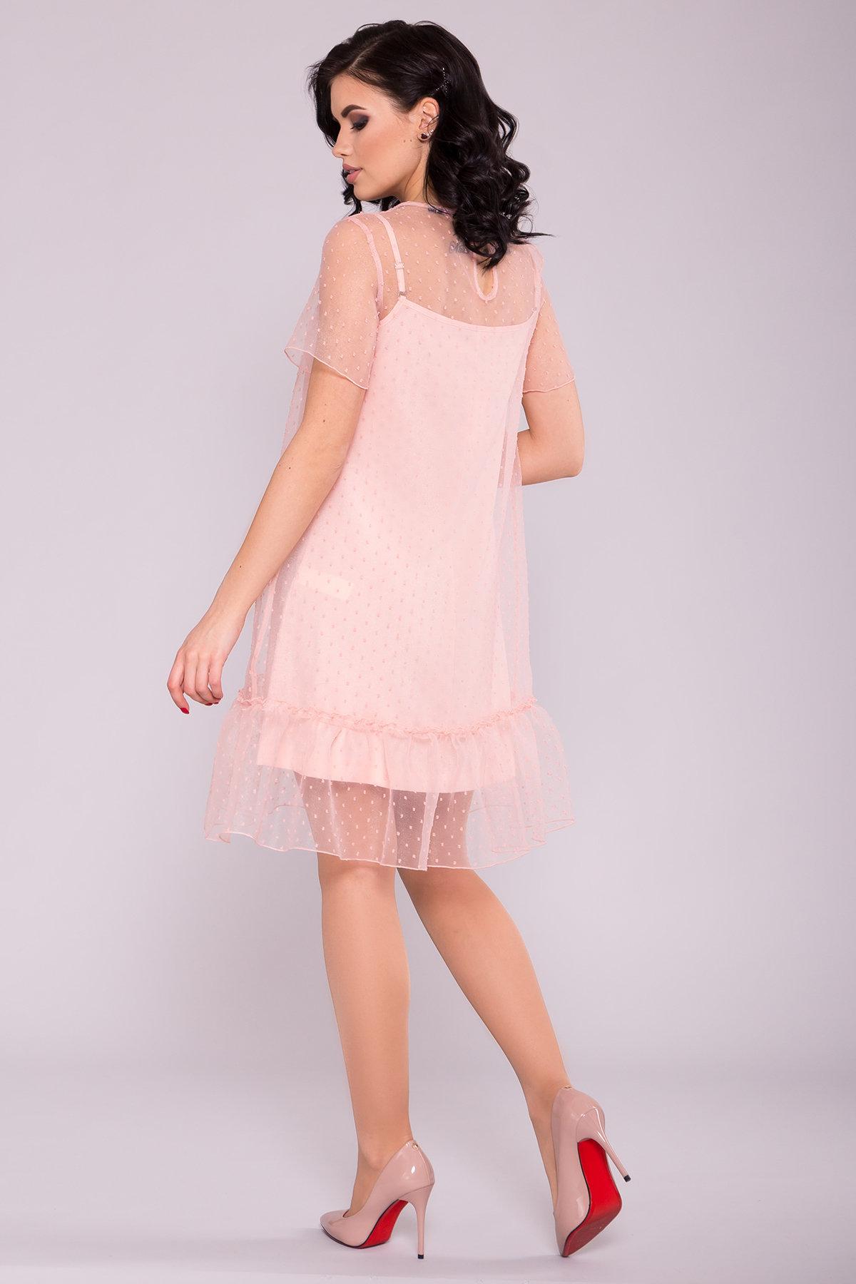 Платье Леонела 6960 АРТ. 42340 Цвет: Пудра 7 - фото 2, интернет магазин tm-modus.ru