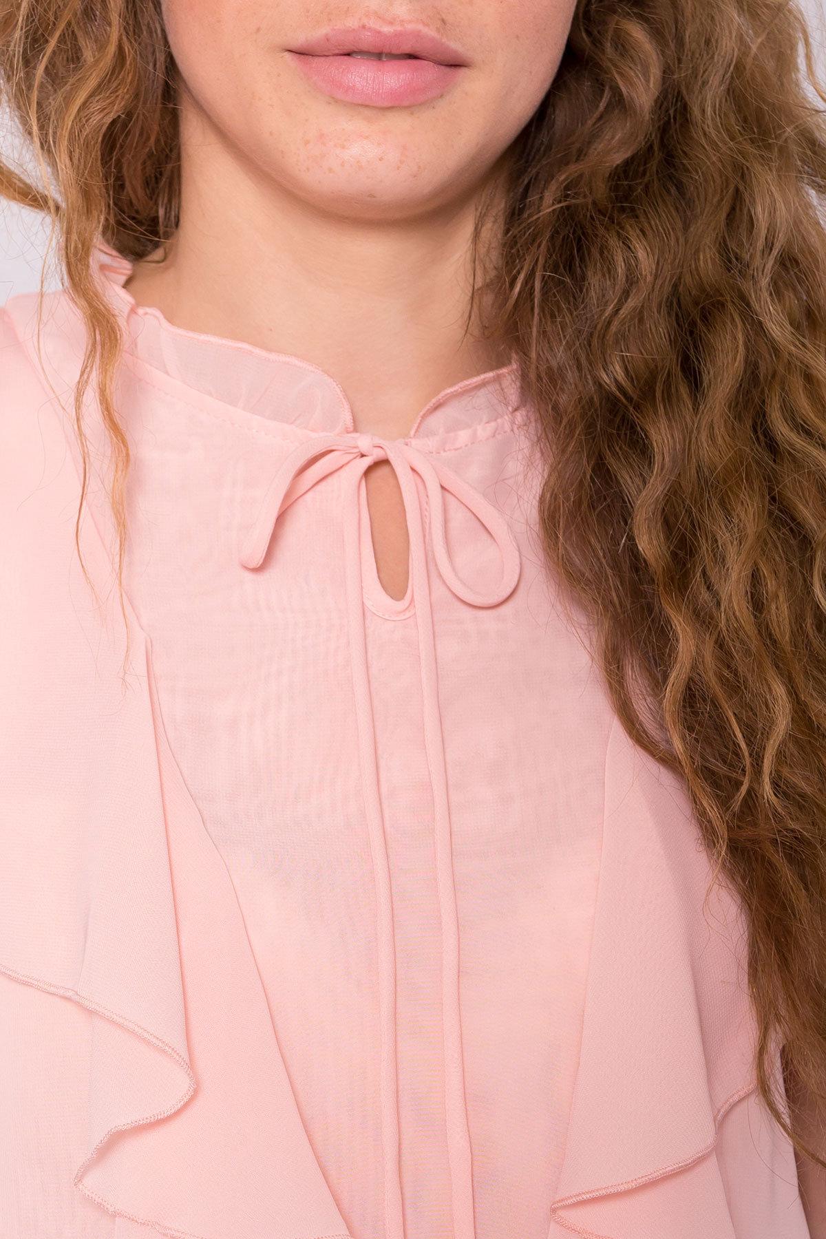 Блуза Дайан 7235 АРТ. 42831 Цвет: Пудра 5 - фото 4, интернет магазин tm-modus.ru