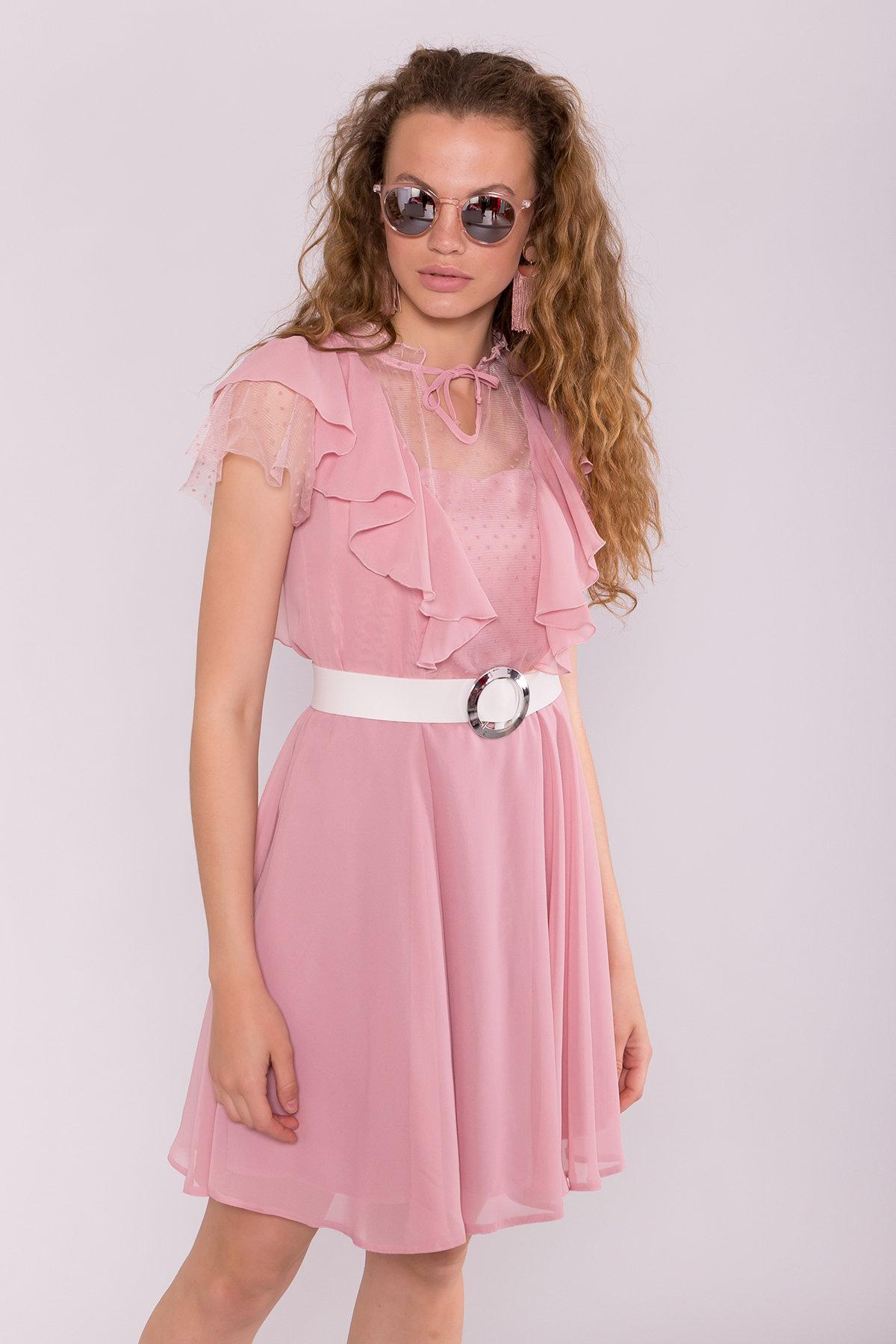 Платье Дали 6992 АРТ. 42792 Цвет: Пудра 4 - фото 3, интернет магазин tm-modus.ru
