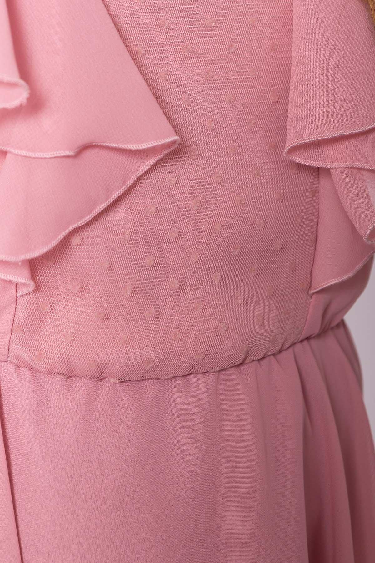Платье Дали 6992 АРТ. 42792 Цвет: Пудра 4 - фото 4, интернет магазин tm-modus.ru