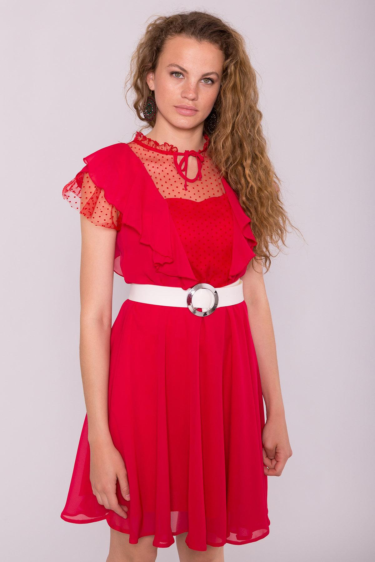 Платье Дали 6992 АРТ. 42834 Цвет: Красный 12 - фото 3, интернет магазин tm-modus.ru