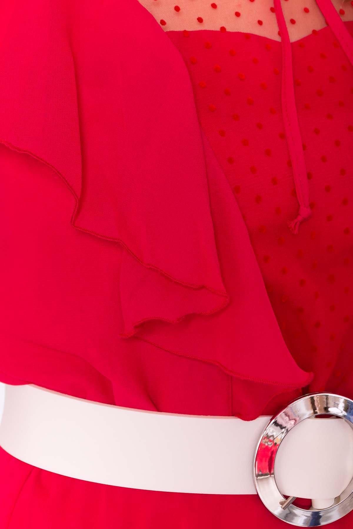 Платье Дали 6992 АРТ. 42834 Цвет: Красный 12 - фото 4, интернет магазин tm-modus.ru