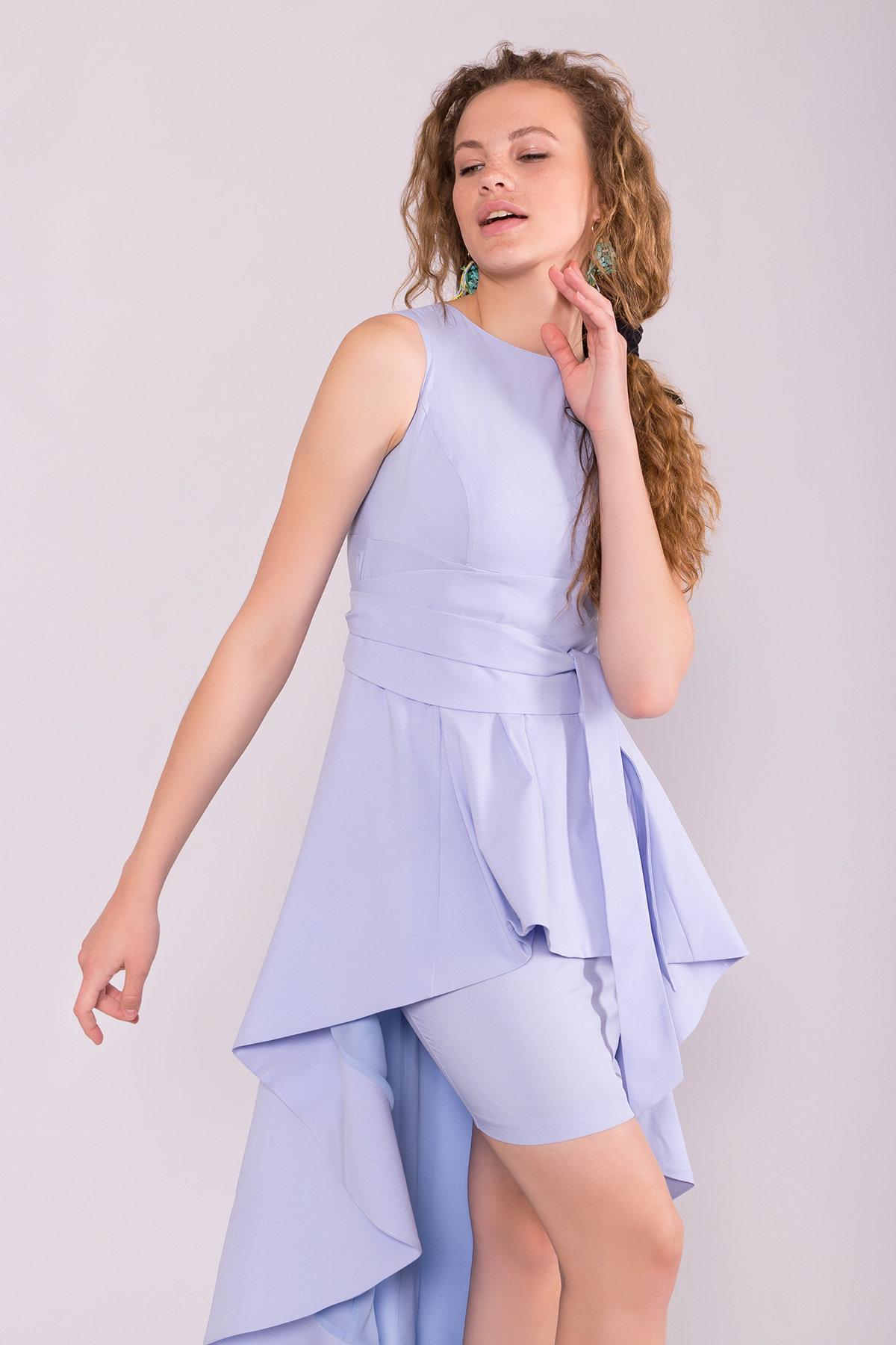 Платье Афродита 7243 АРТ. 42812 Цвет: Голубой - фото 3, интернет магазин tm-modus.ru