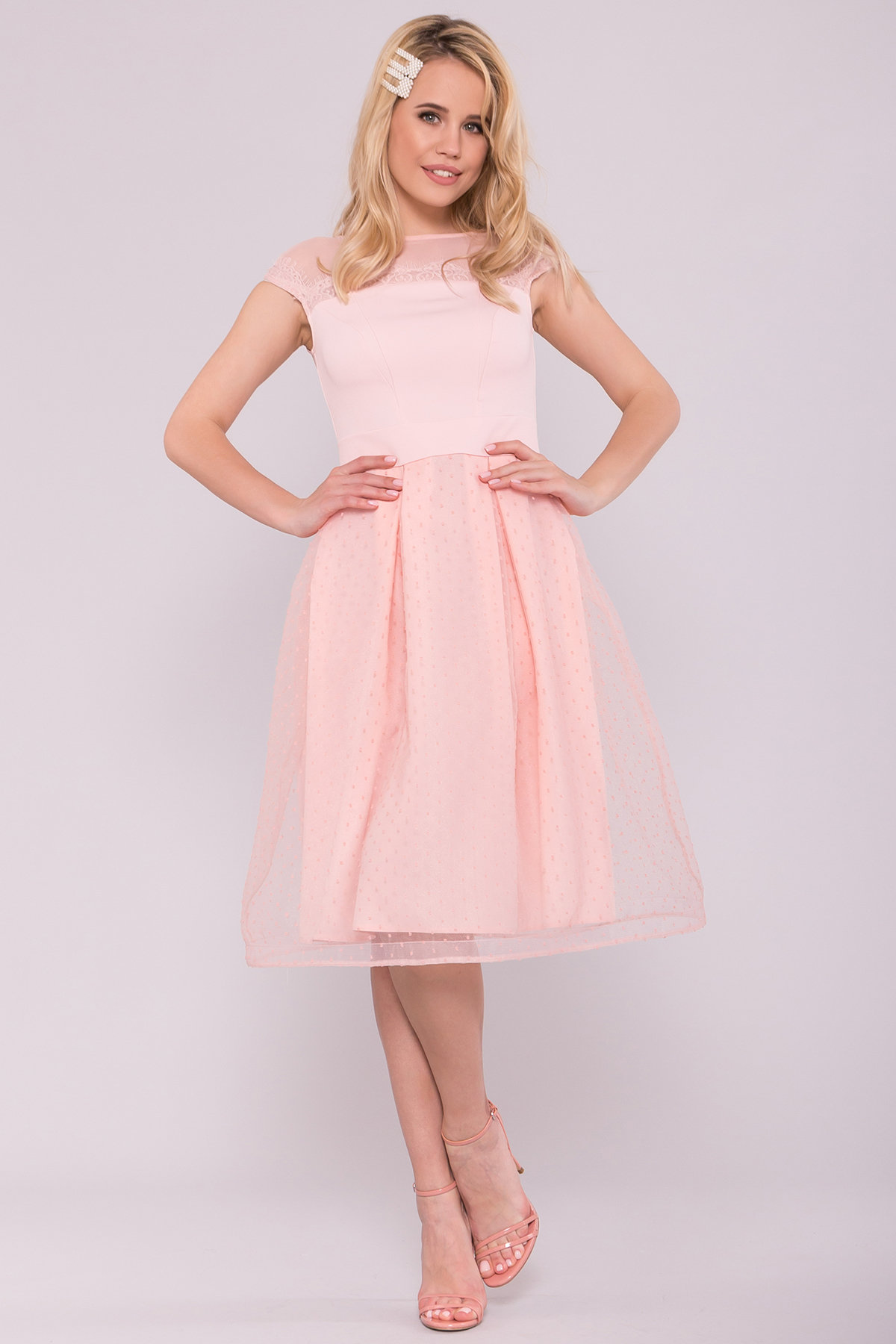 Платье Зарина 6989 Цвет: Пудра светлая 11