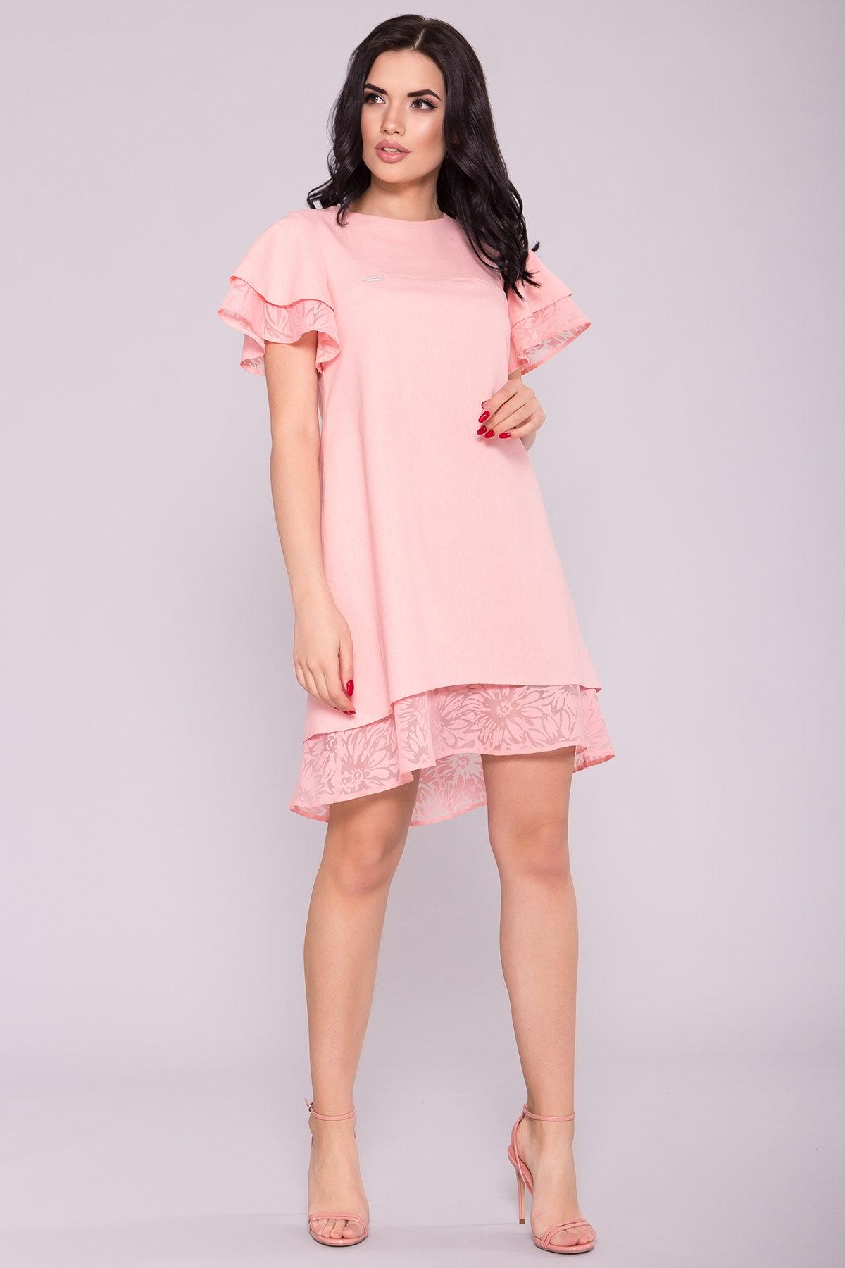 трикотажные платья оптом Платье Романтик 4986
