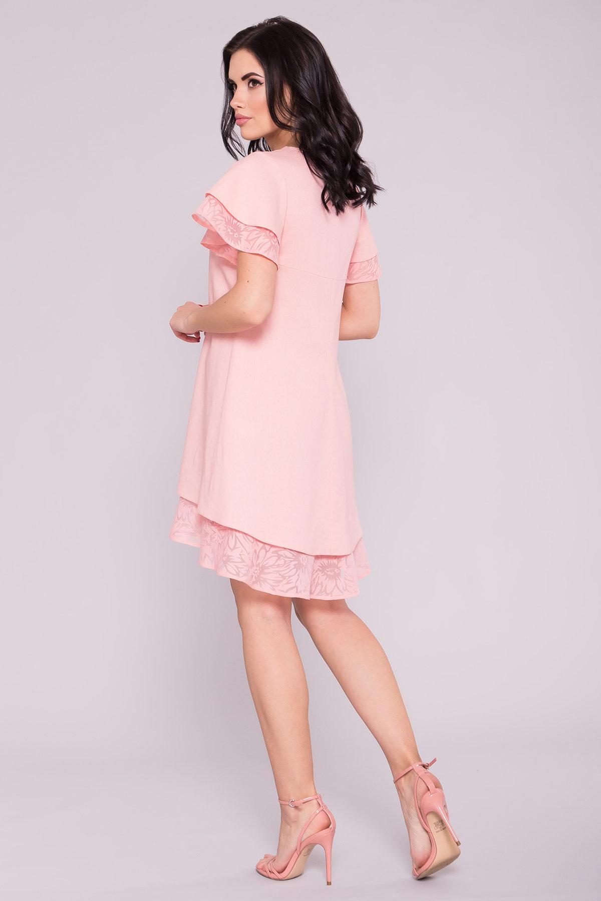 Платье Романтик 4986 АРТ. 35307 Цвет: Пудра 7 - фото 2, интернет магазин tm-modus.ru