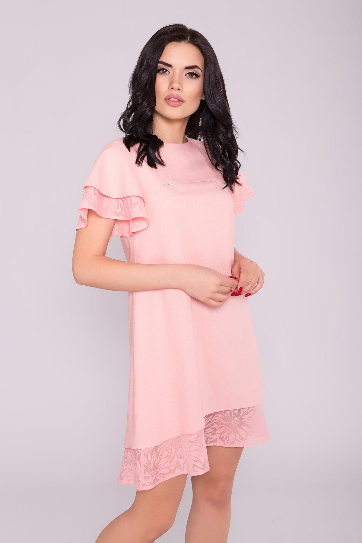 Платье Романтик 4986 АРТ. 35307 Цвет: Пудра 7 - фото 3, интернет магазин tm-modus.ru