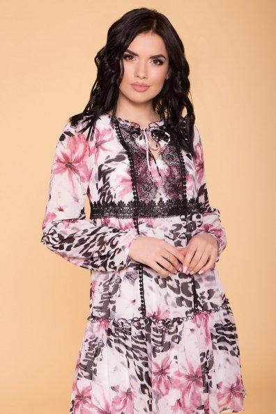 Платье Лотти 6492 Цвет: Леоп цвет мол/пудр/мол