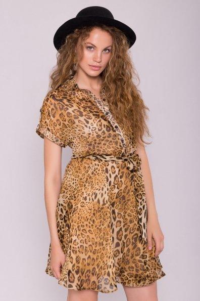 Платье рубашка Санжар 6935 Цвет: Леопард 2