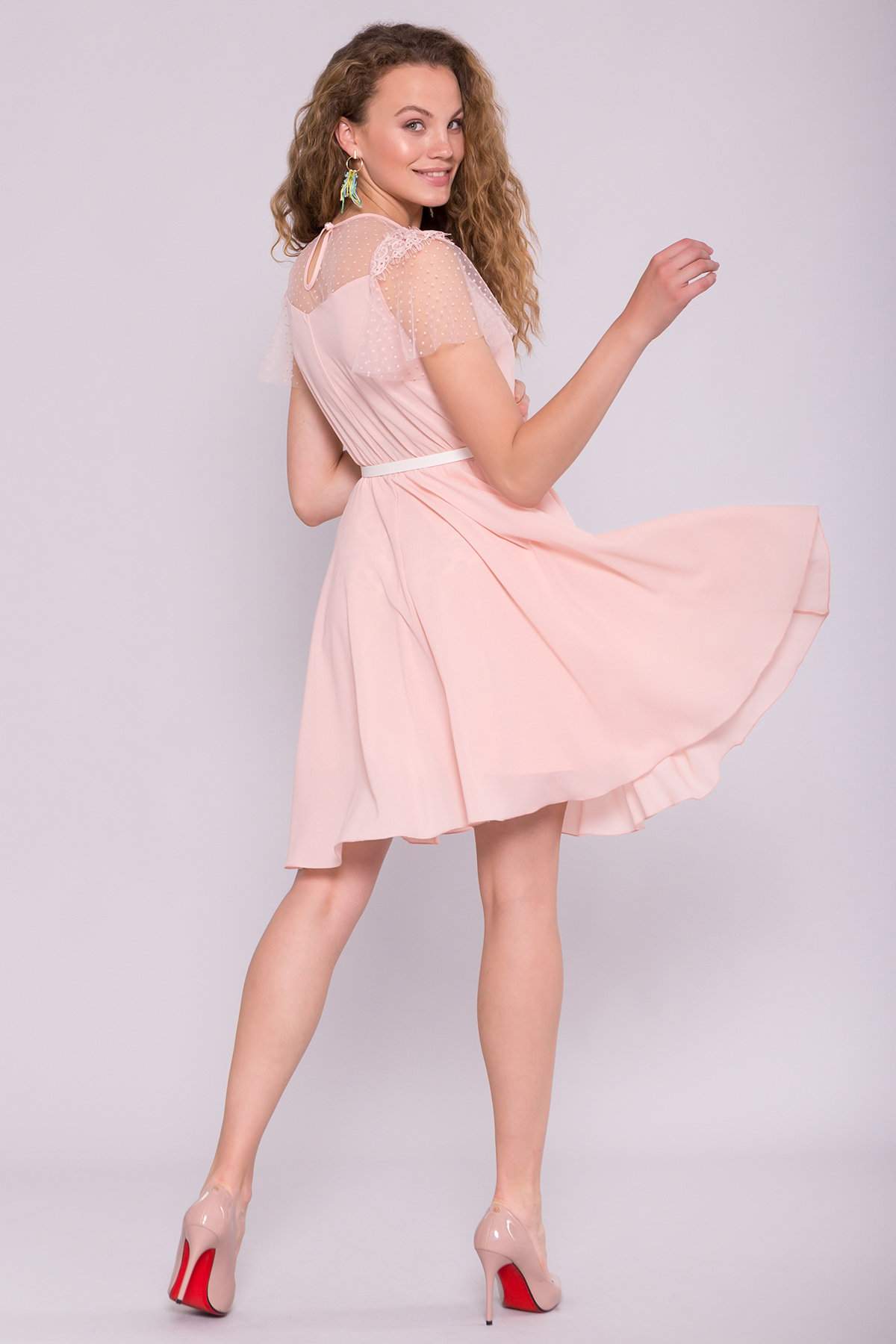 Платье Ламара 7143 АРТ. 42782 Цвет: Пудра светлая 17 - фото 2, интернет магазин tm-modus.ru