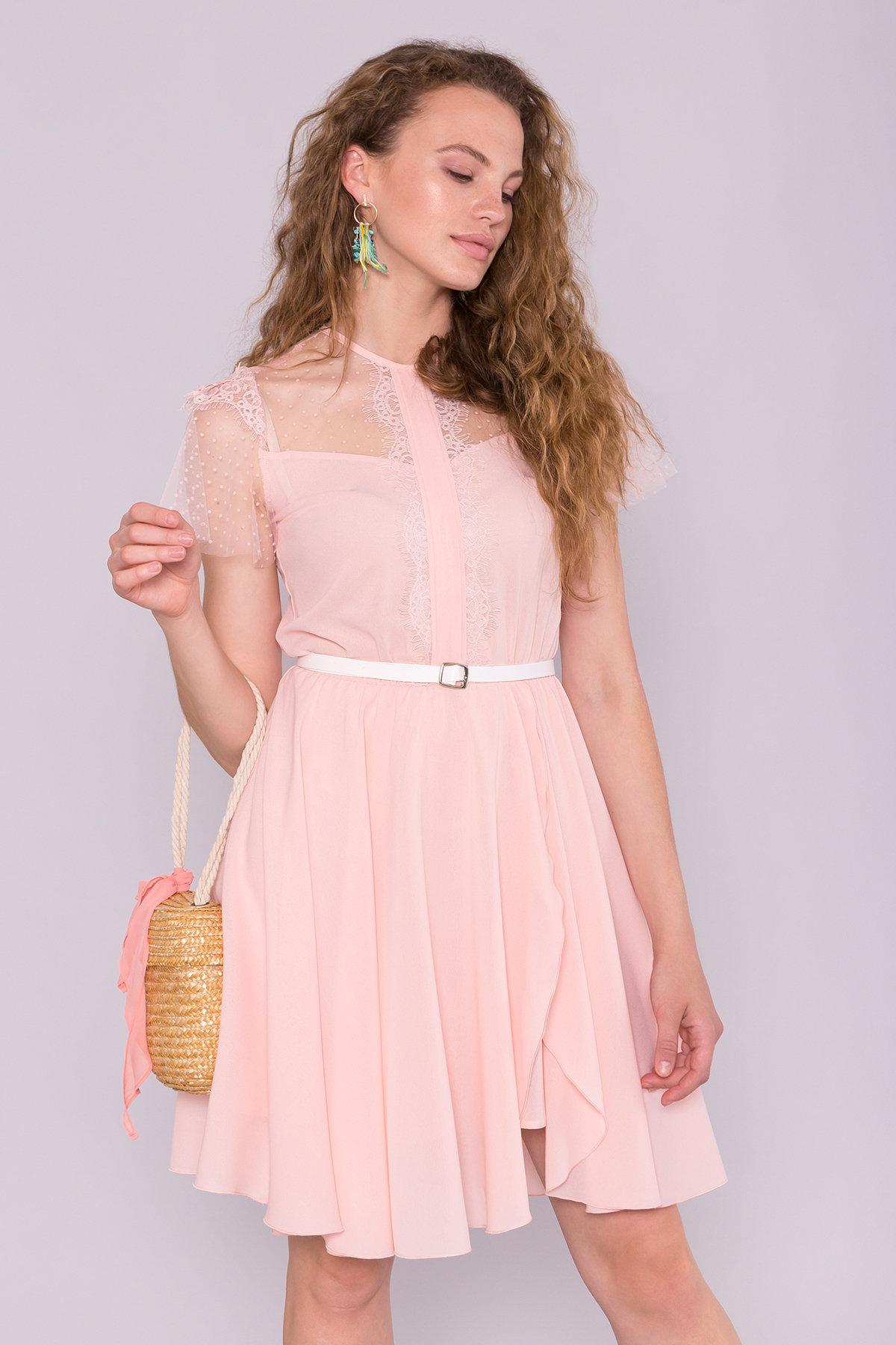 Платье Ламара 7143 АРТ. 42782 Цвет: Пудра светлая 17 - фото 3, интернет магазин tm-modus.ru