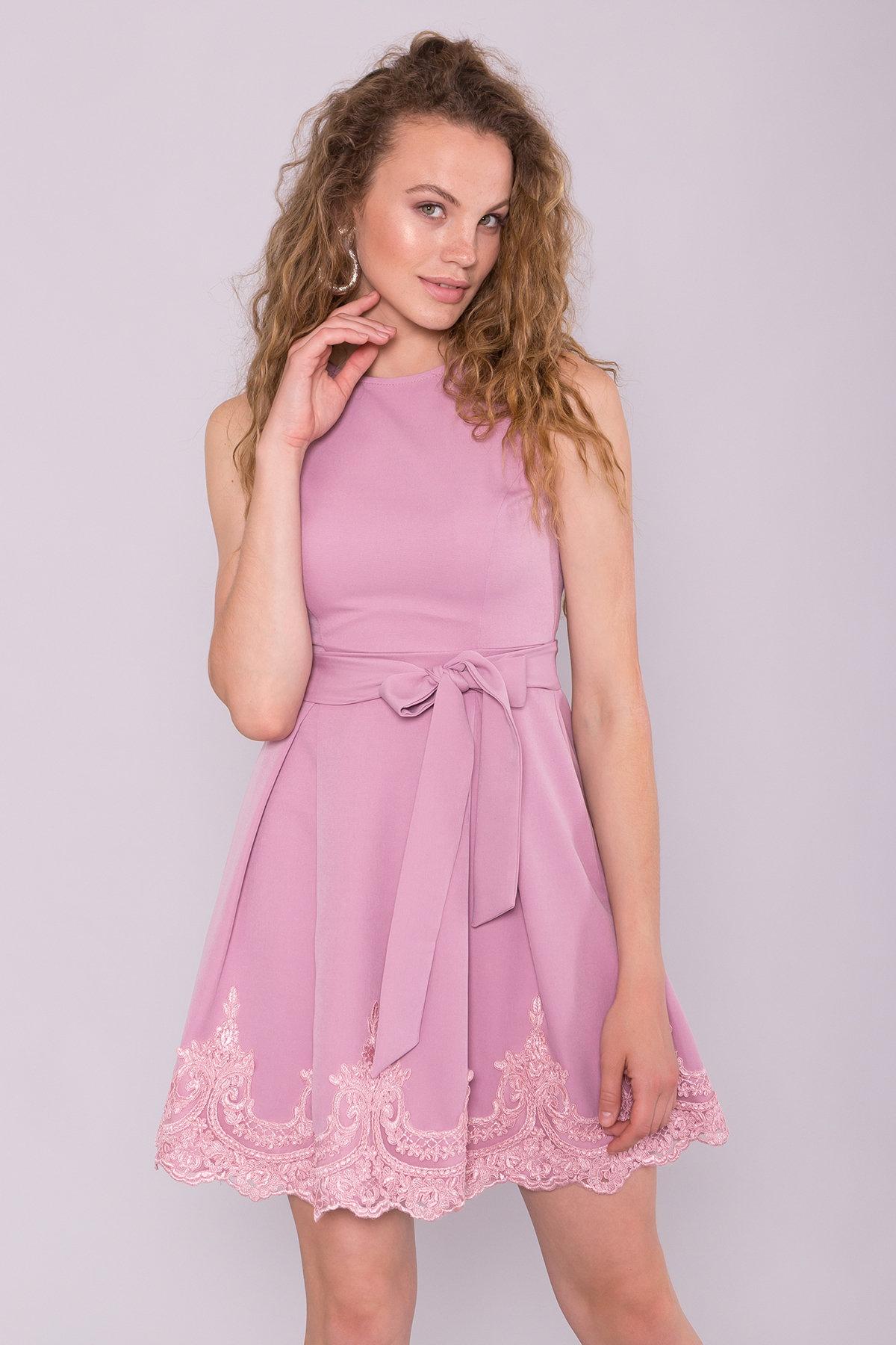 Платье Фиерия 7272 Цвет: Пудра Темная